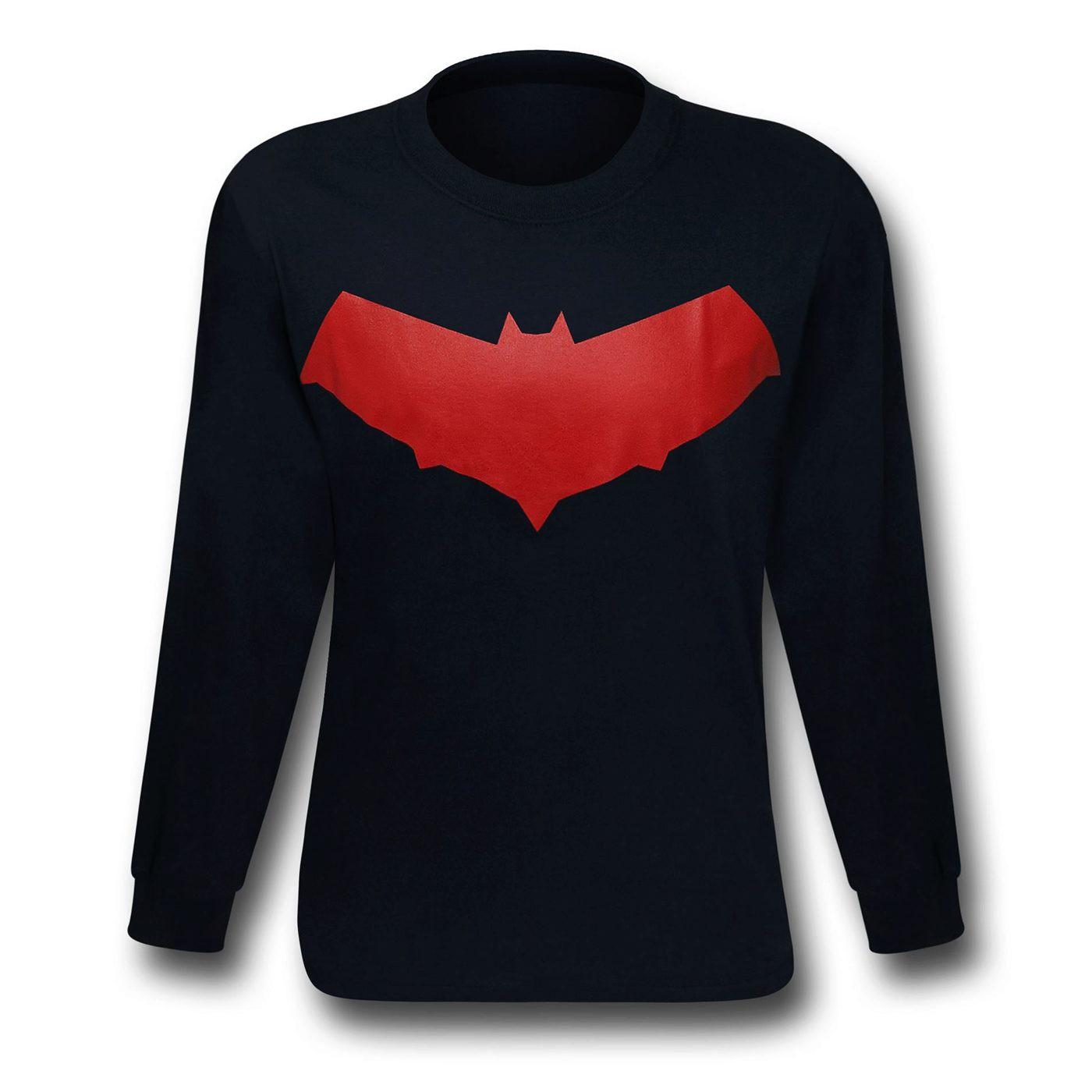 Red Hood Symbol Jason Todd Long Sleeve T-Shirt