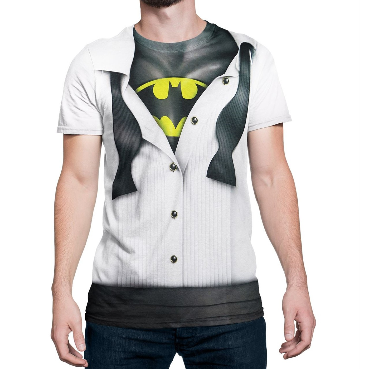 Batman Tuxedo Costume Reveal Sublimated T-Shirt
