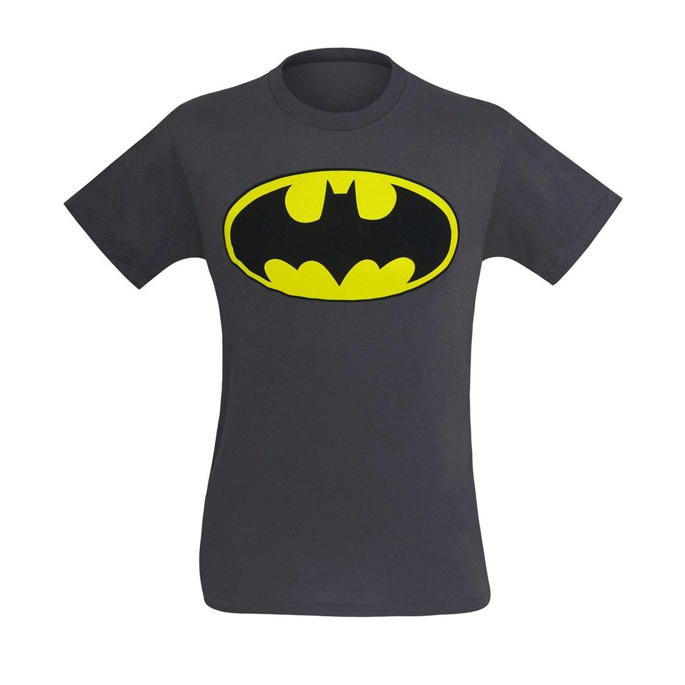 Batman Symbol T-Shirt on Grey