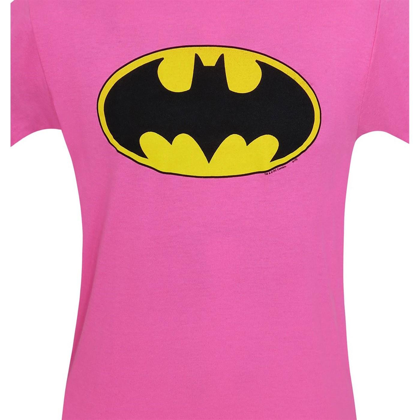 Batman Kids Pink Symbol T-Shirt