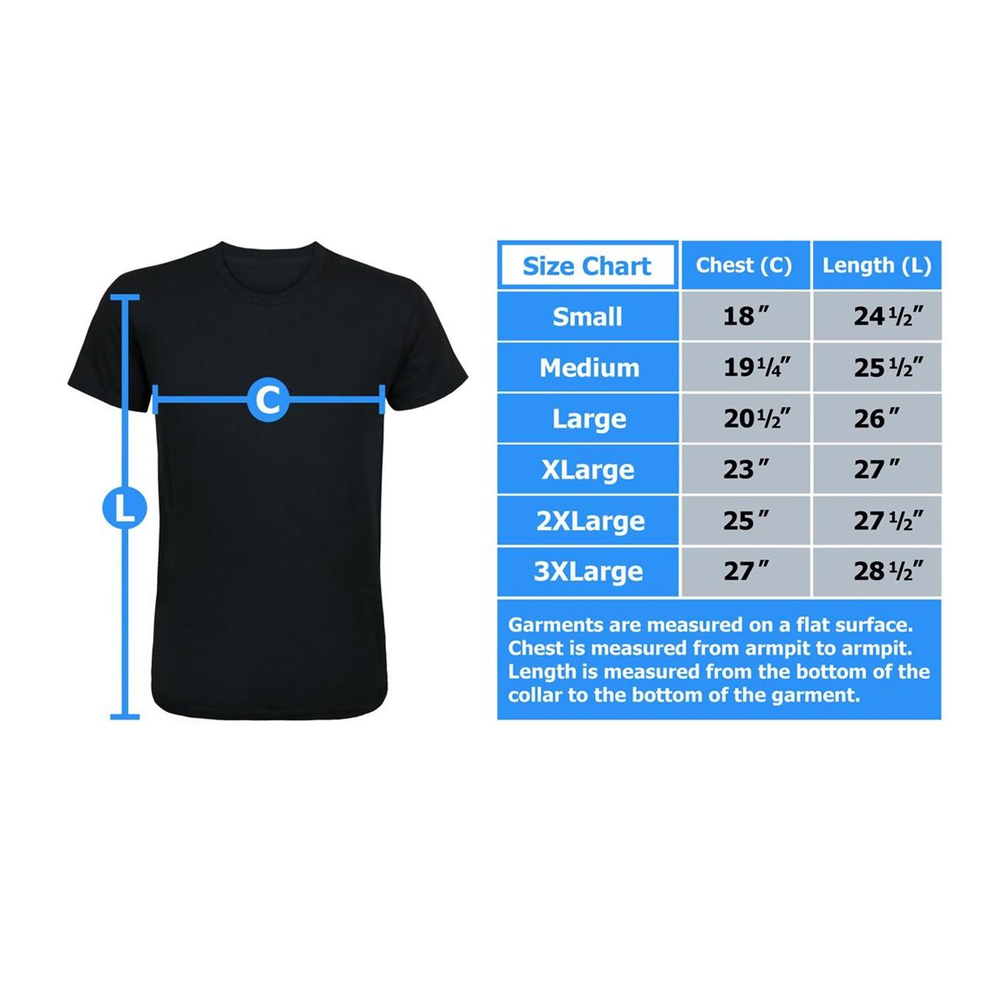 Batman Text Stance Men's T-Shirt