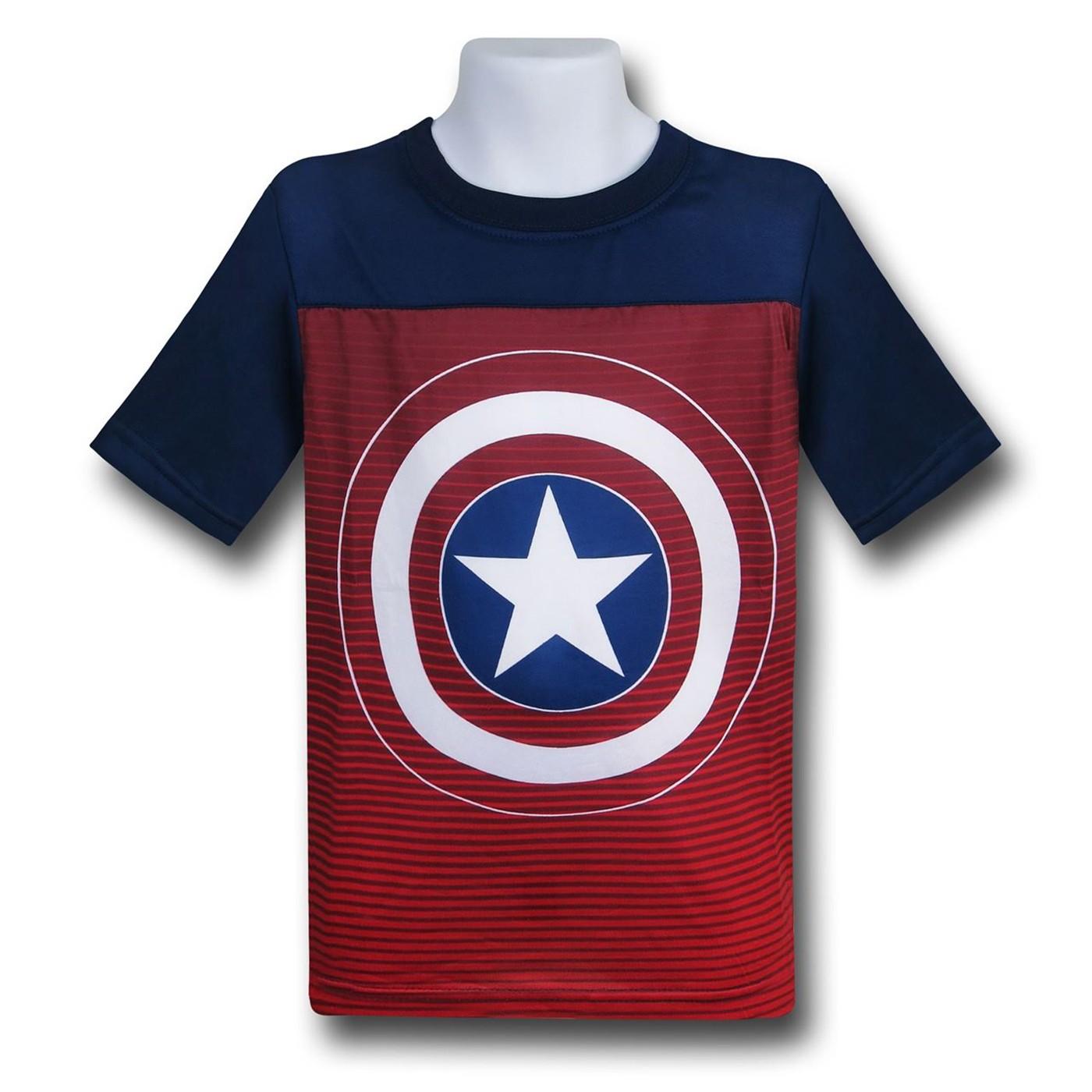 Captain America Kids Freedom Shield Cut & Sew T-Shirt