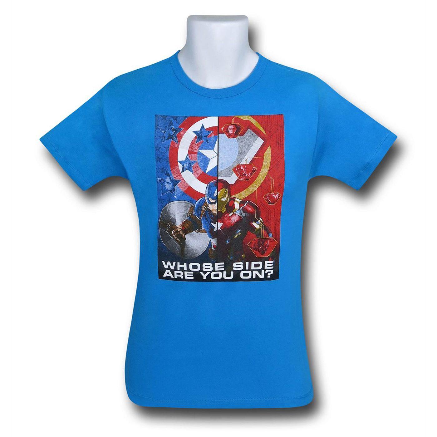 Captain America Civil War Make A Choice Kids T-Shirt