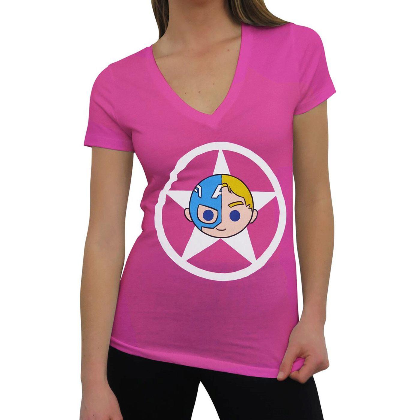 Captain America Iconic Women's V-Neck T-Shirt