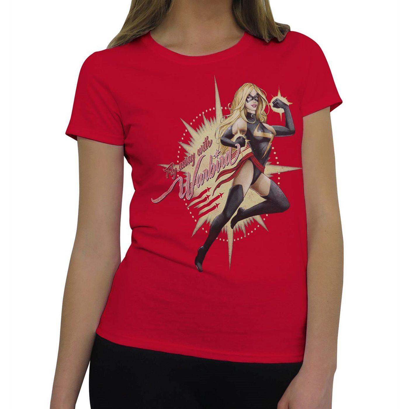 Ms Marvel Fly Away Warbird Women's T-Shirt