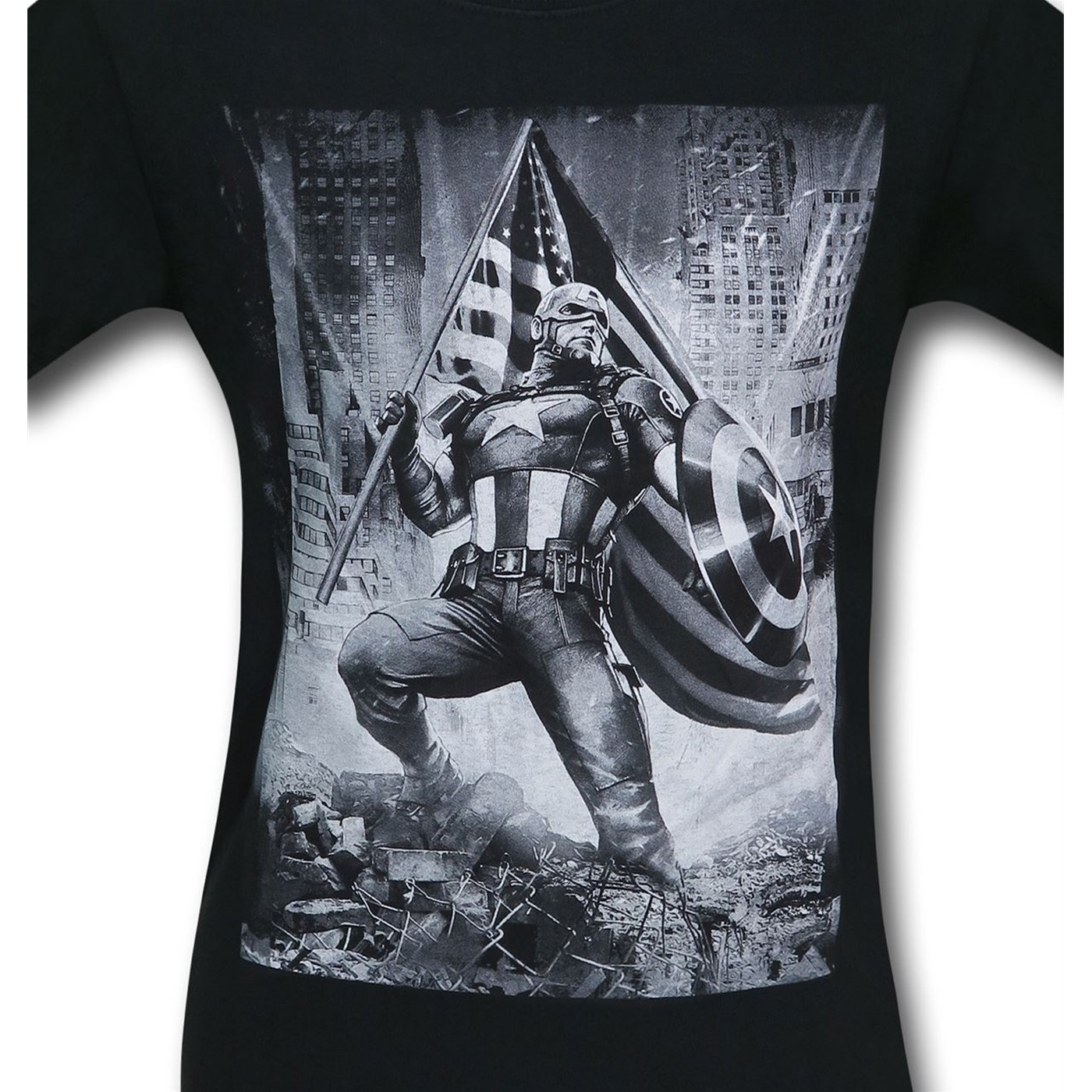 Captain America Patriotic Flag Men's T-Shirt