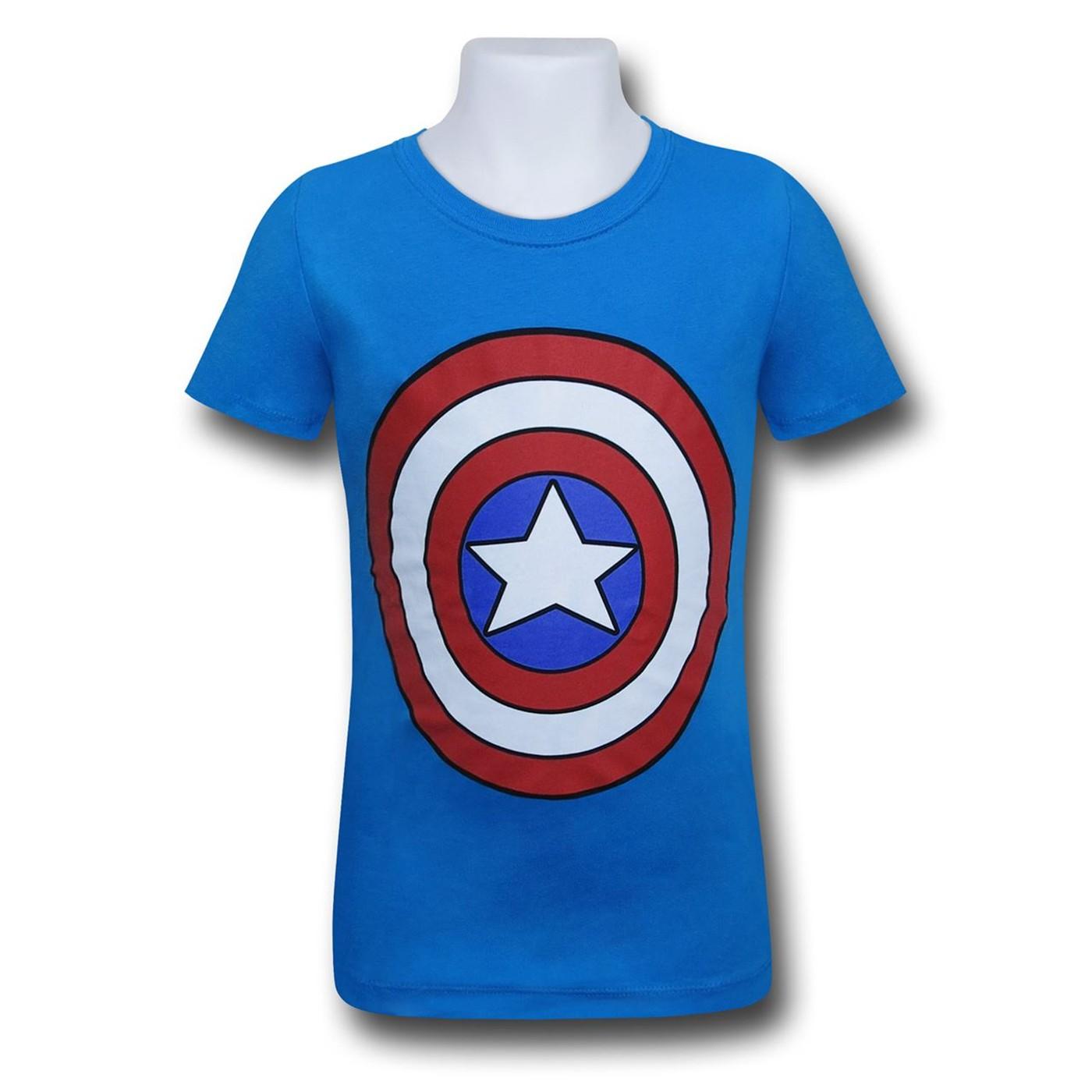 Captain America Shield Girls T-Shirt