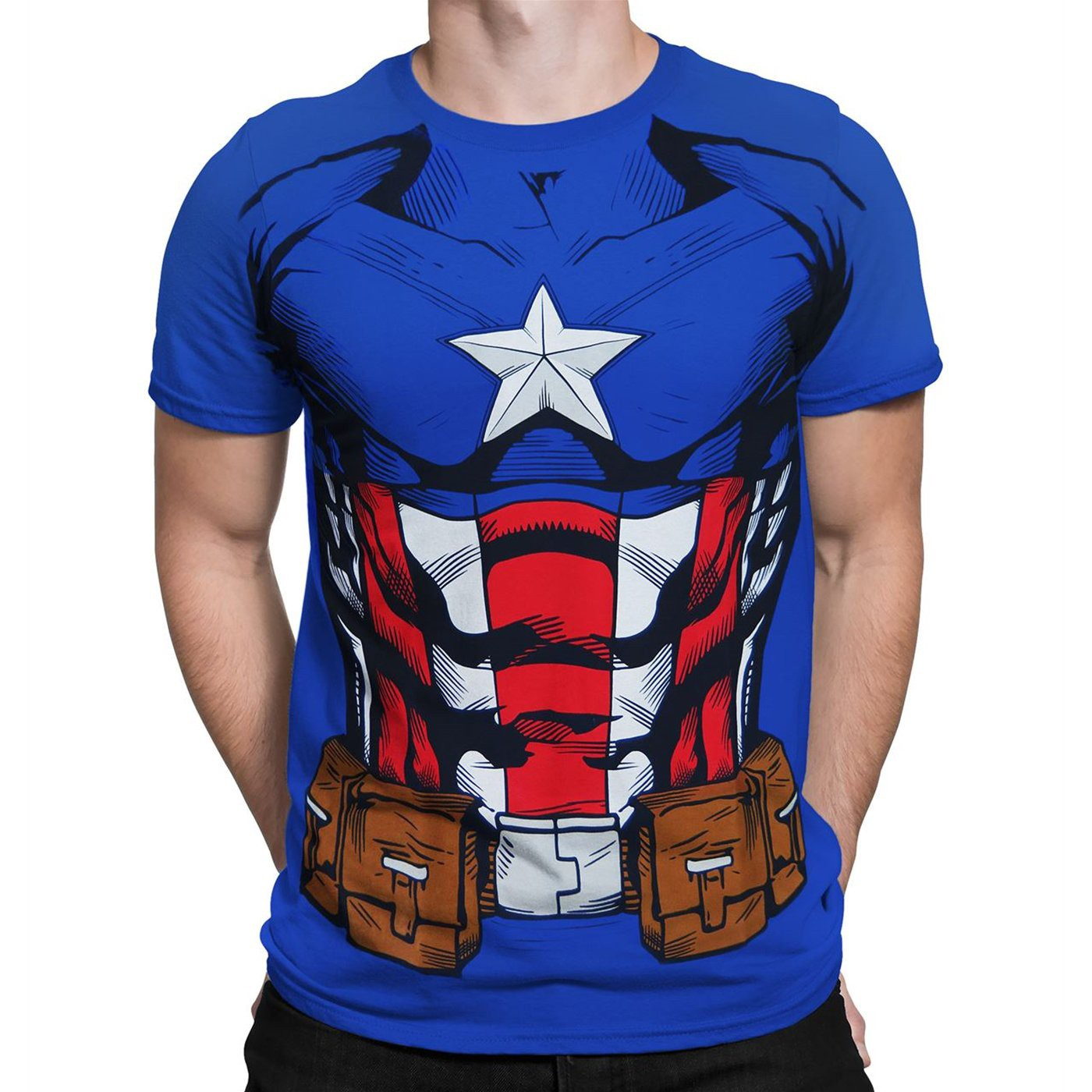 Captain America Suit-Up Men's Costume T-Shirt