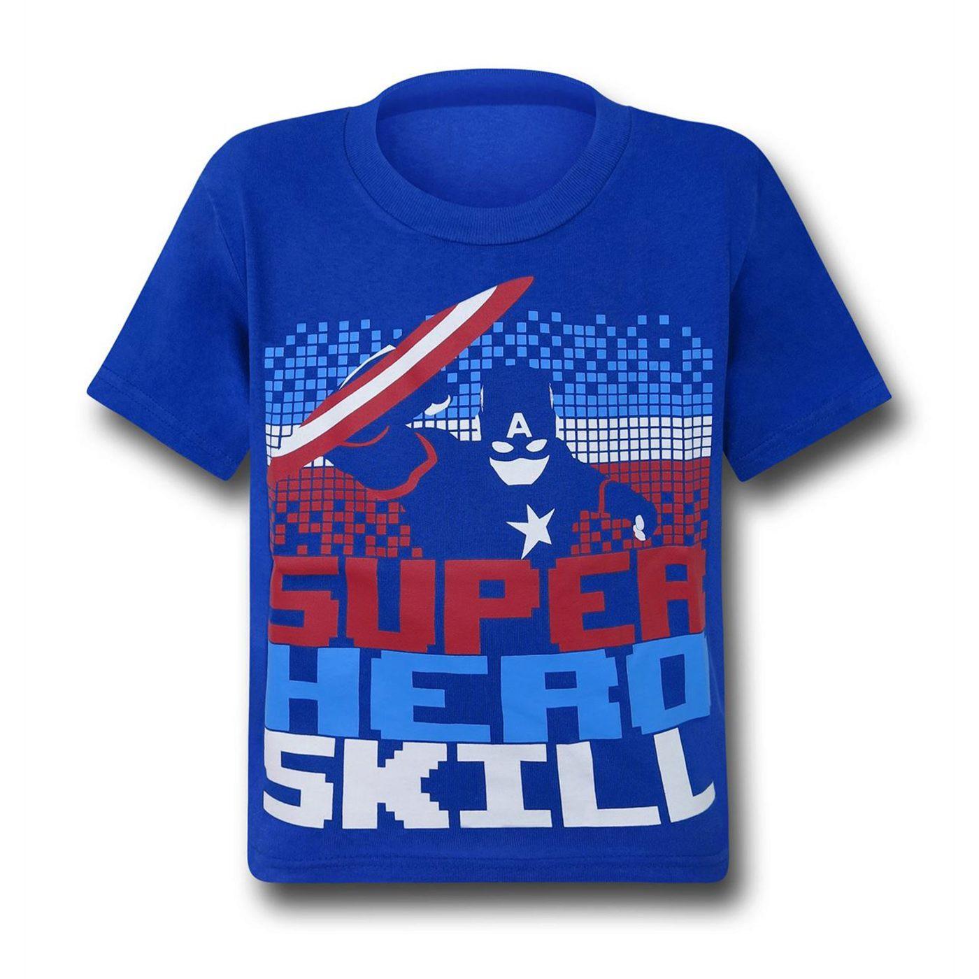 Captain America Superhero Skill Kids T-Shirt