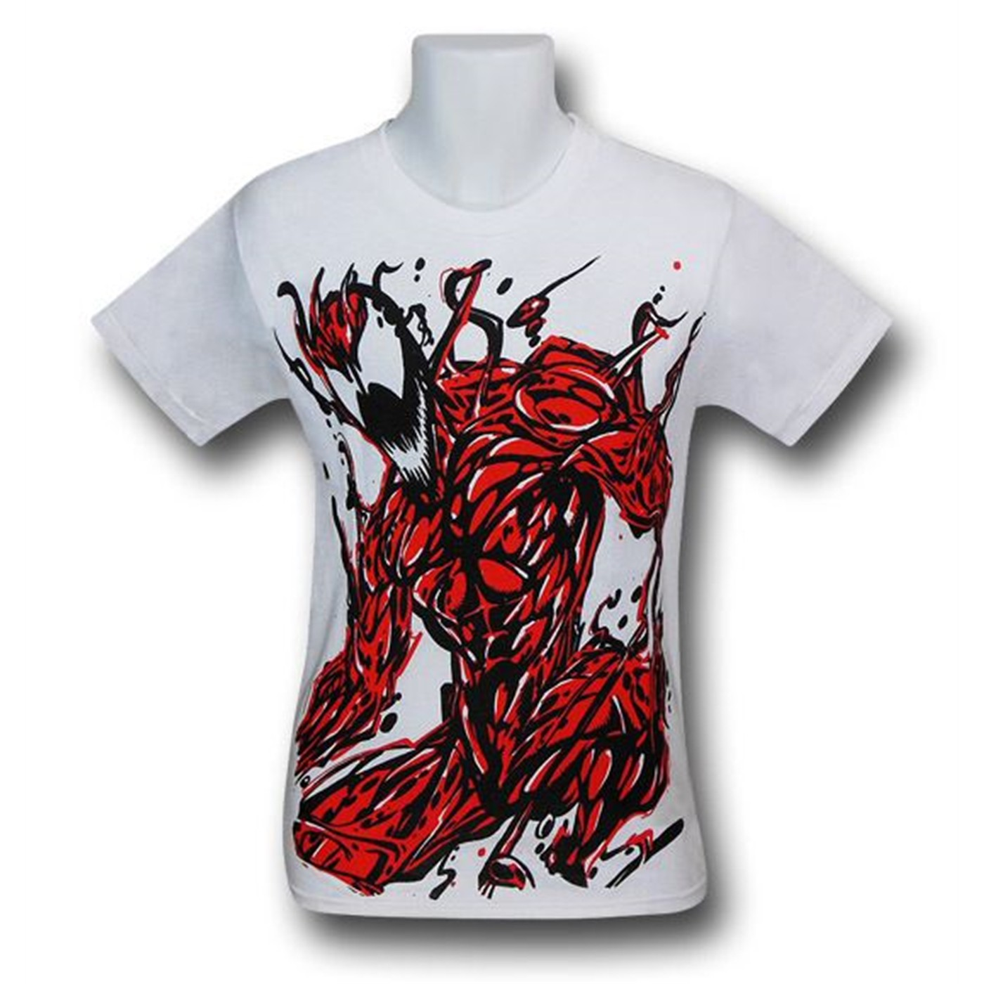 Carnage Angry Image on White T-Shirt