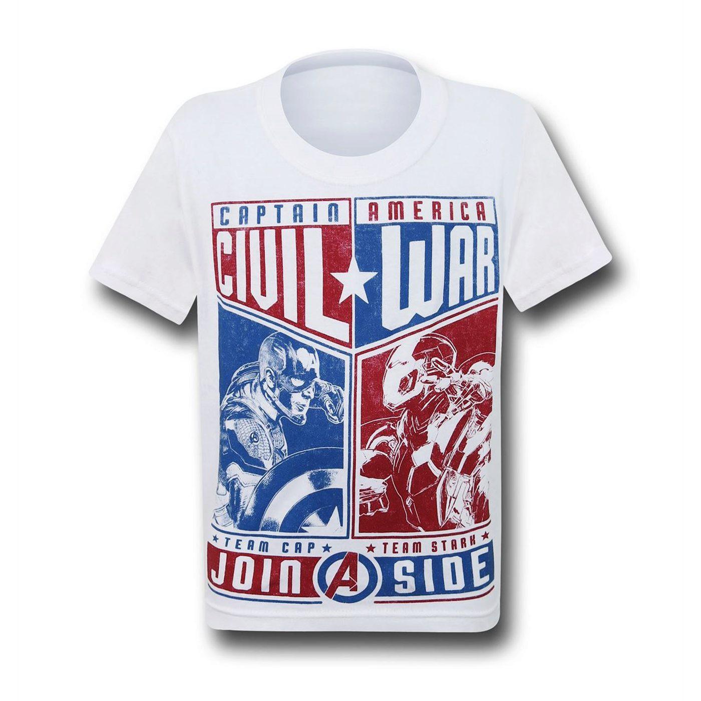 Captain America Civil War Choose Sides Kids T-Shirt