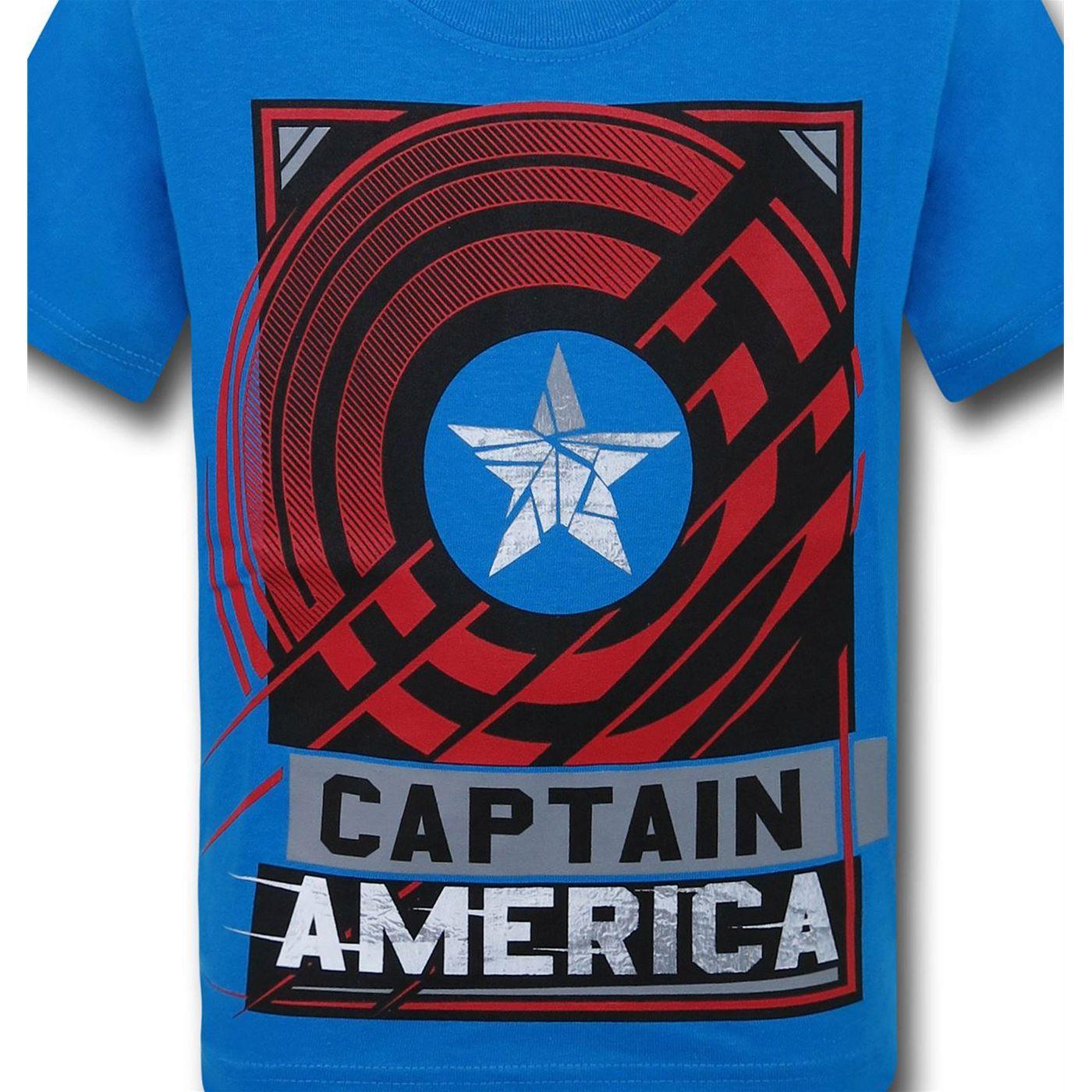 Captain America Civil War America Shield Kids T-Shirt