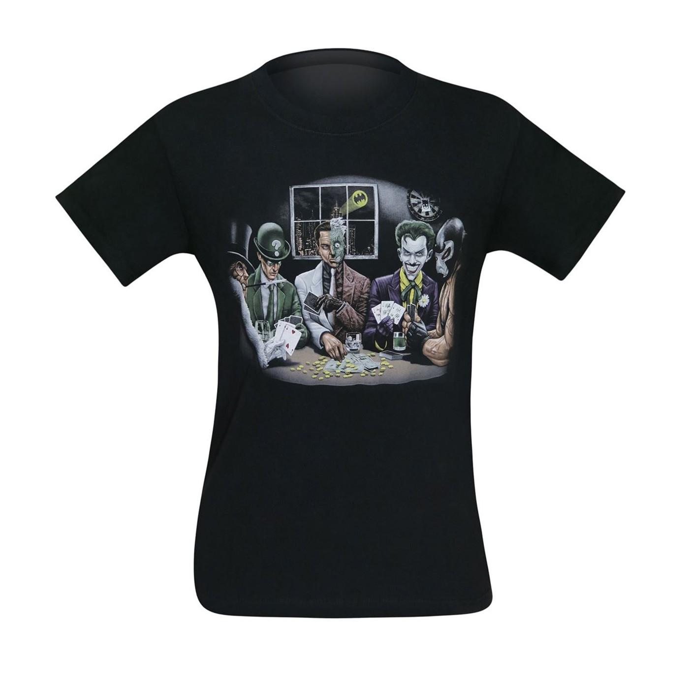 DC Villains Poker Night Men's T-Shirt