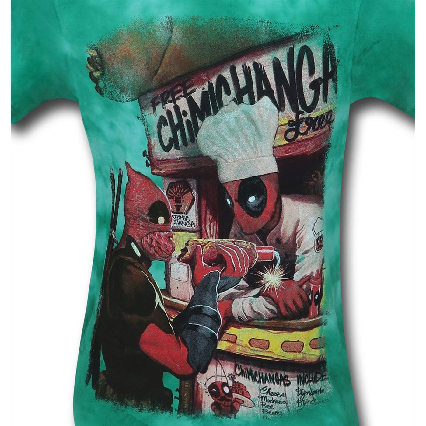 Deadpool Chimichangerous Men's Tie Dye T-Shirt