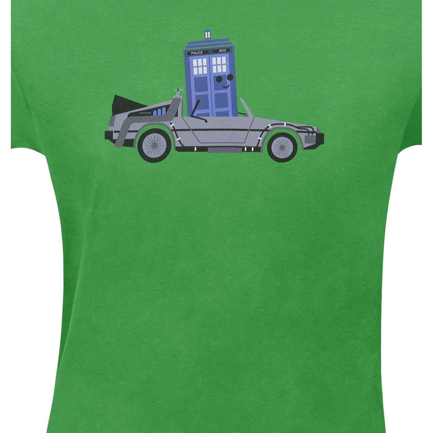 DeLorean Police Box T-Shirt