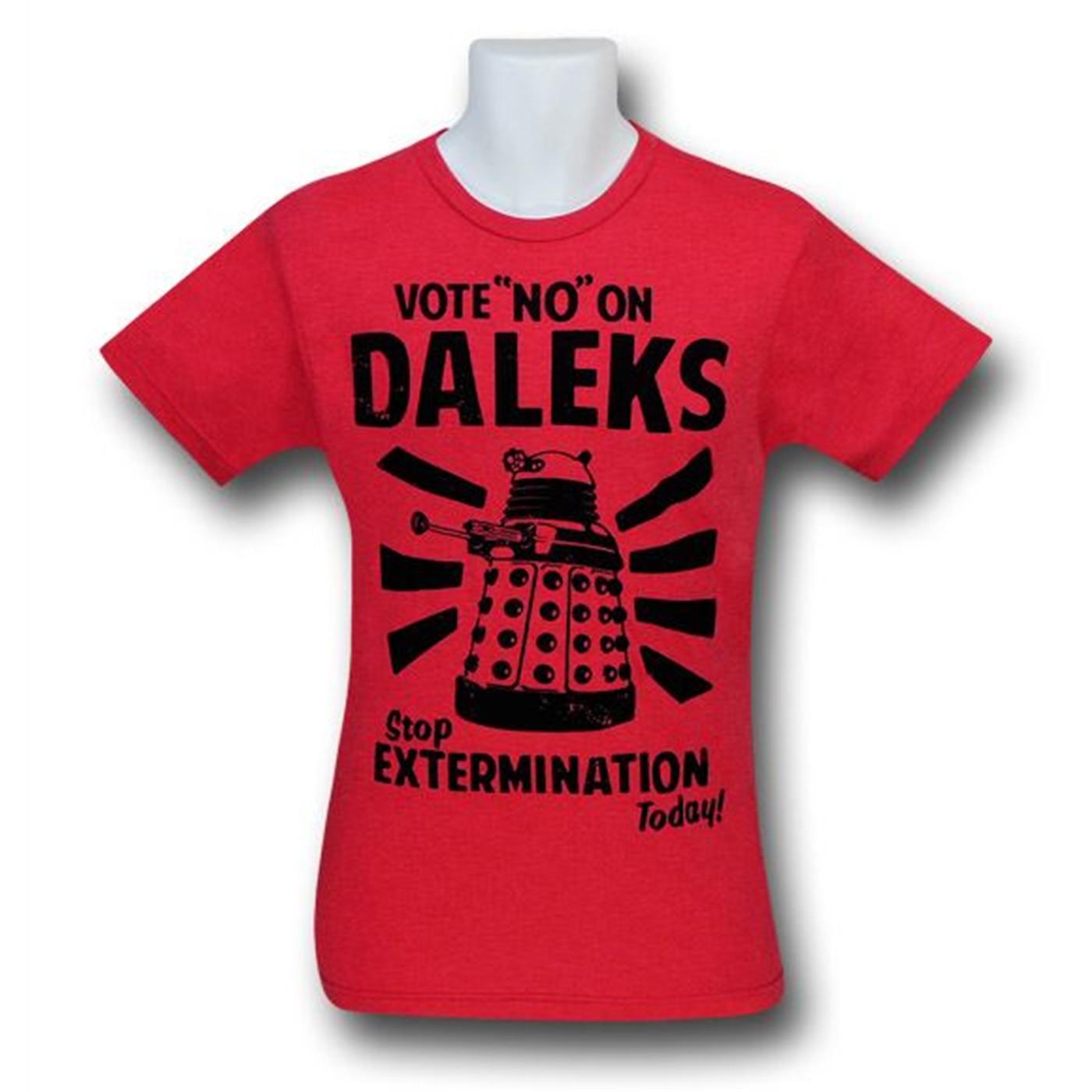 Doctor Who Daleks Vote 30 Single T-Shirt