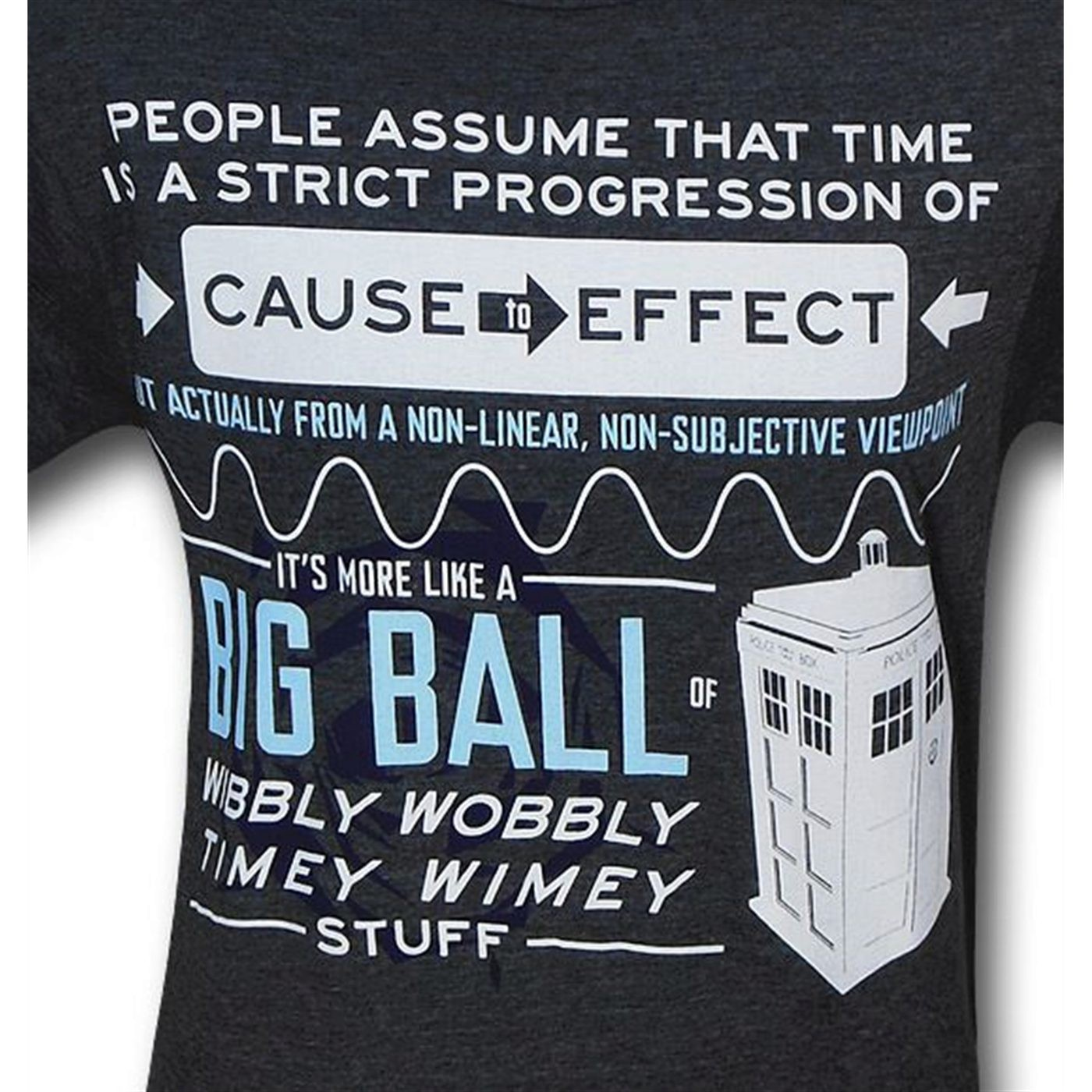 Doctor Who Timey Wimey 30 Single T-Shirt