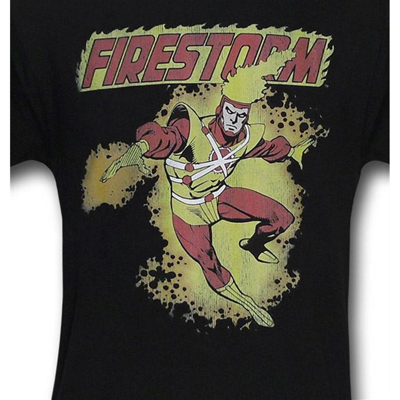 Firestorm Black Distressed T-Shirt