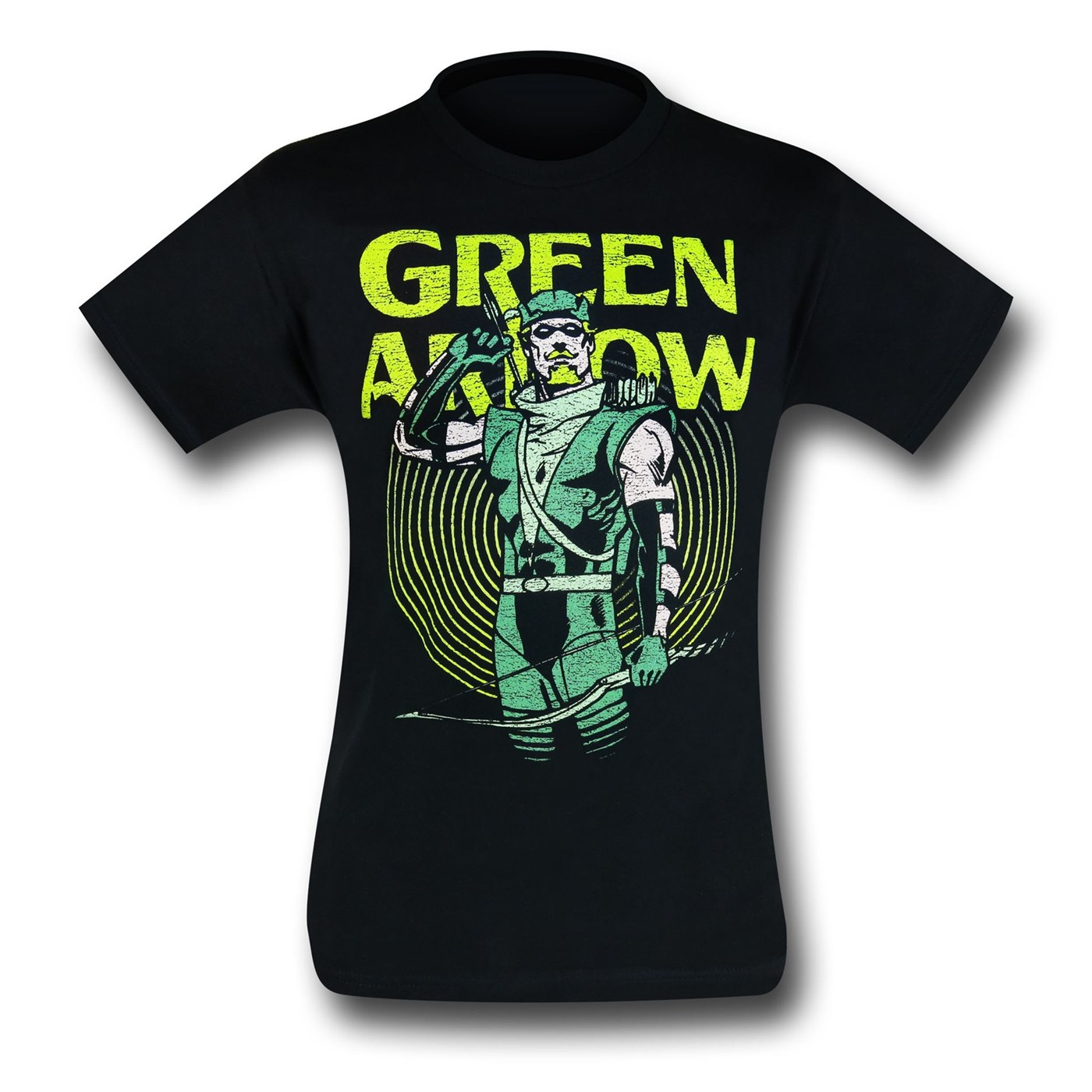 Green Arrow In Yellow Circle T-Shirt
