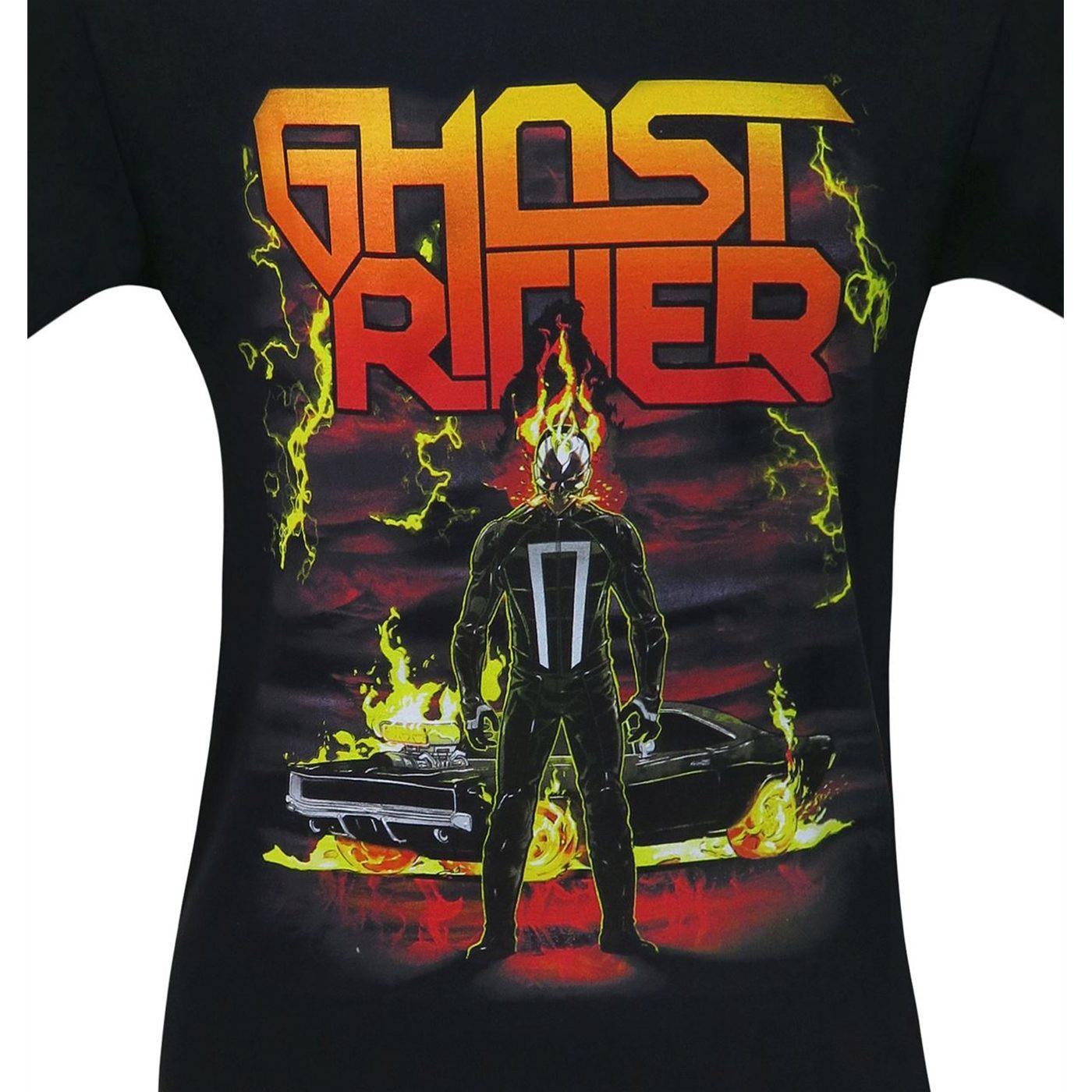 Ghost Rider Heavy Metal Men's T-Shirt