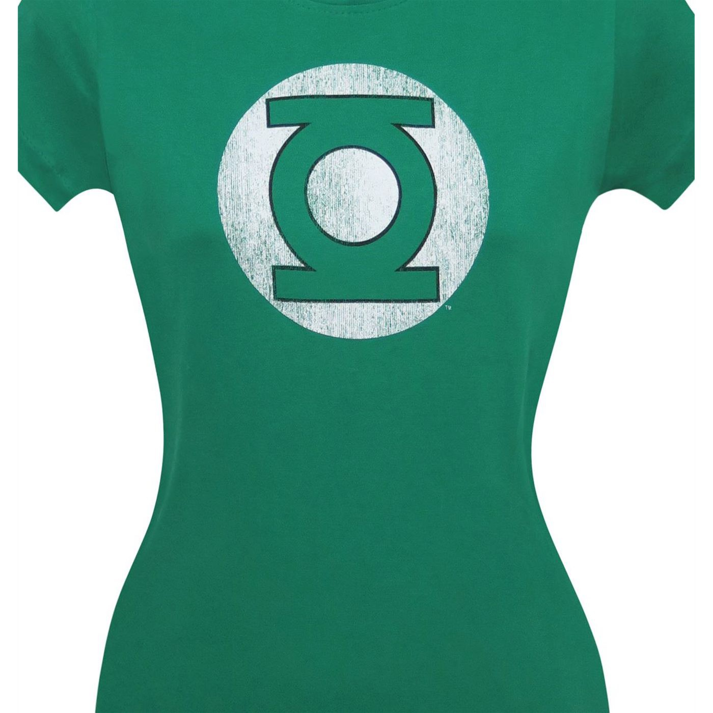Green Lantern Dark Green Distressed Symbol Women's T-Shirt