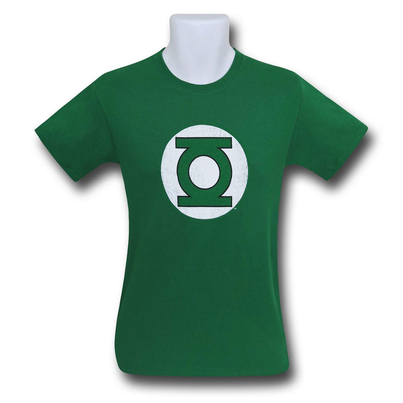 Green Lantern Hal Jordan Distressed Logo Men's T-Shirt