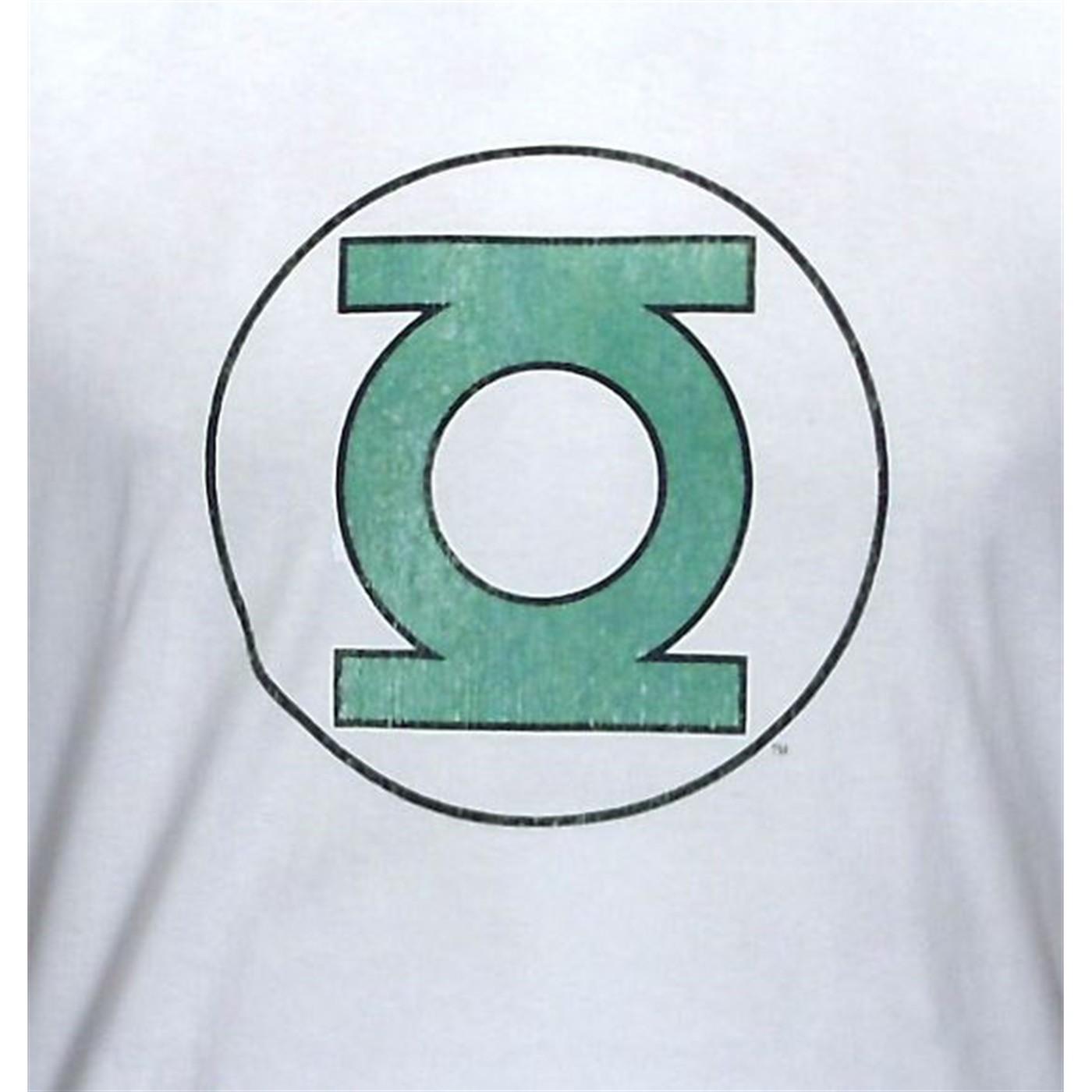 Green Lantern Distressed Symbol Ringer T-Shirt
