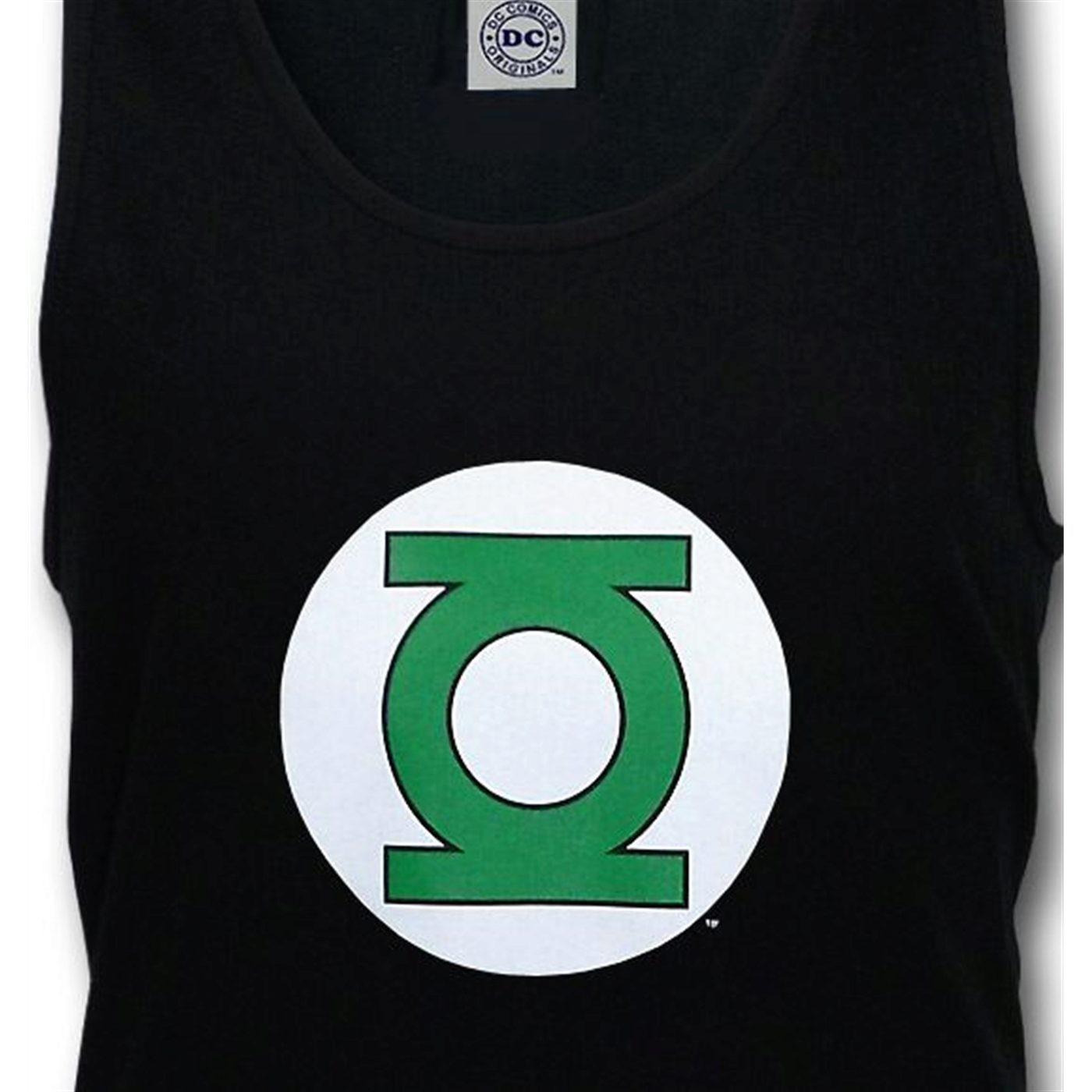 Green Lantern Symbol Black Tank Top