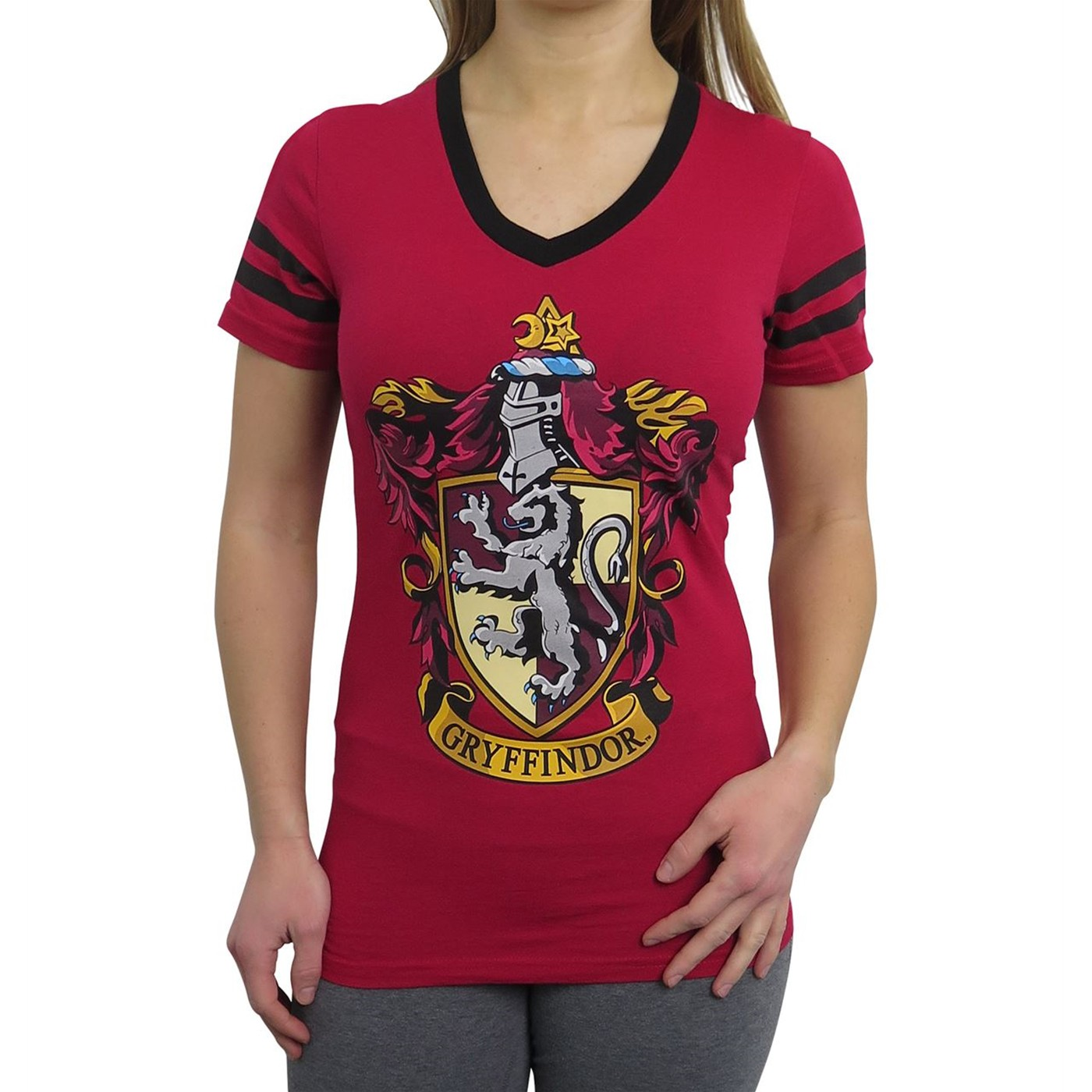 Harry Potter Gryffindor Women's V-Neck T-Shirt