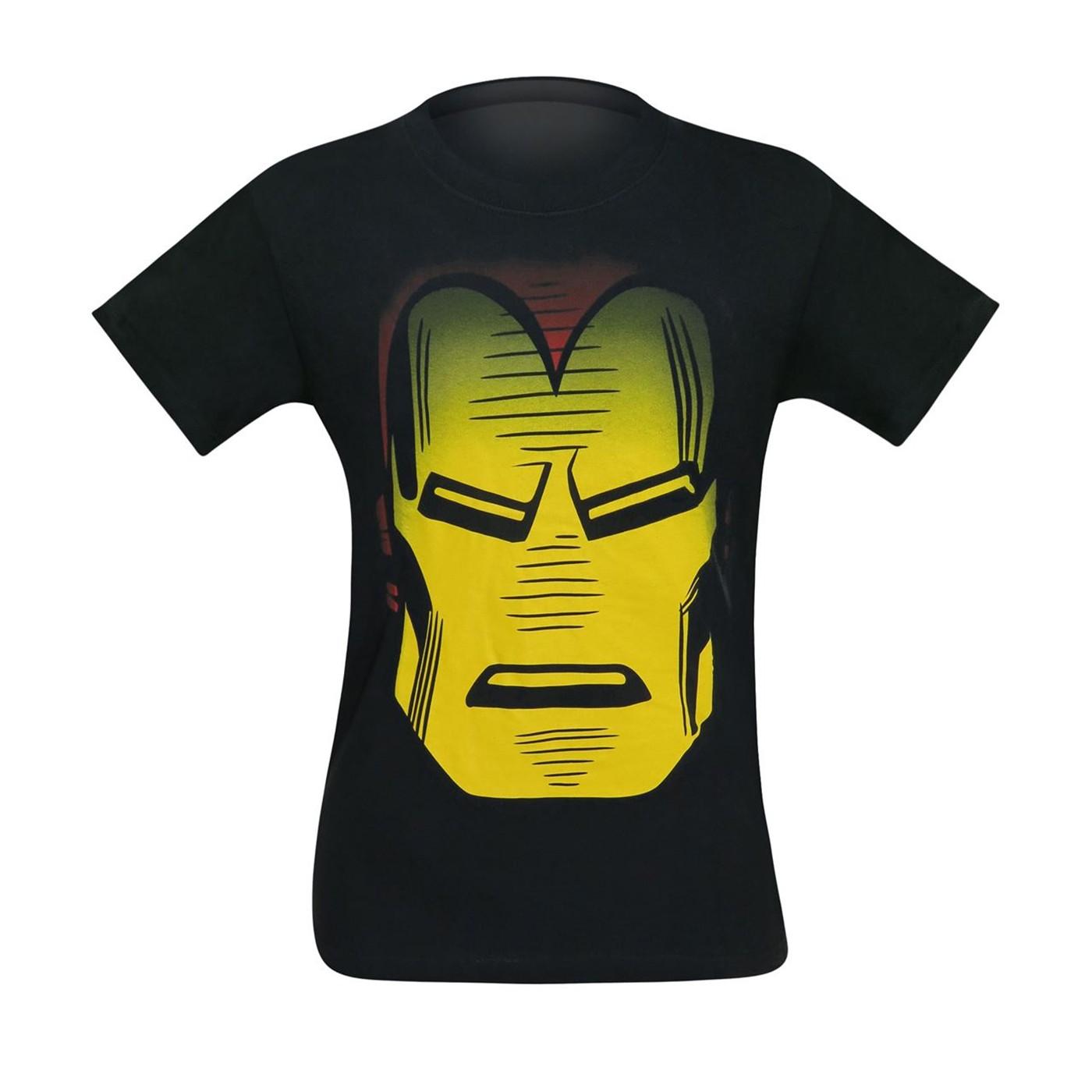 Iron Man Helmet Head Men's T-Shirt