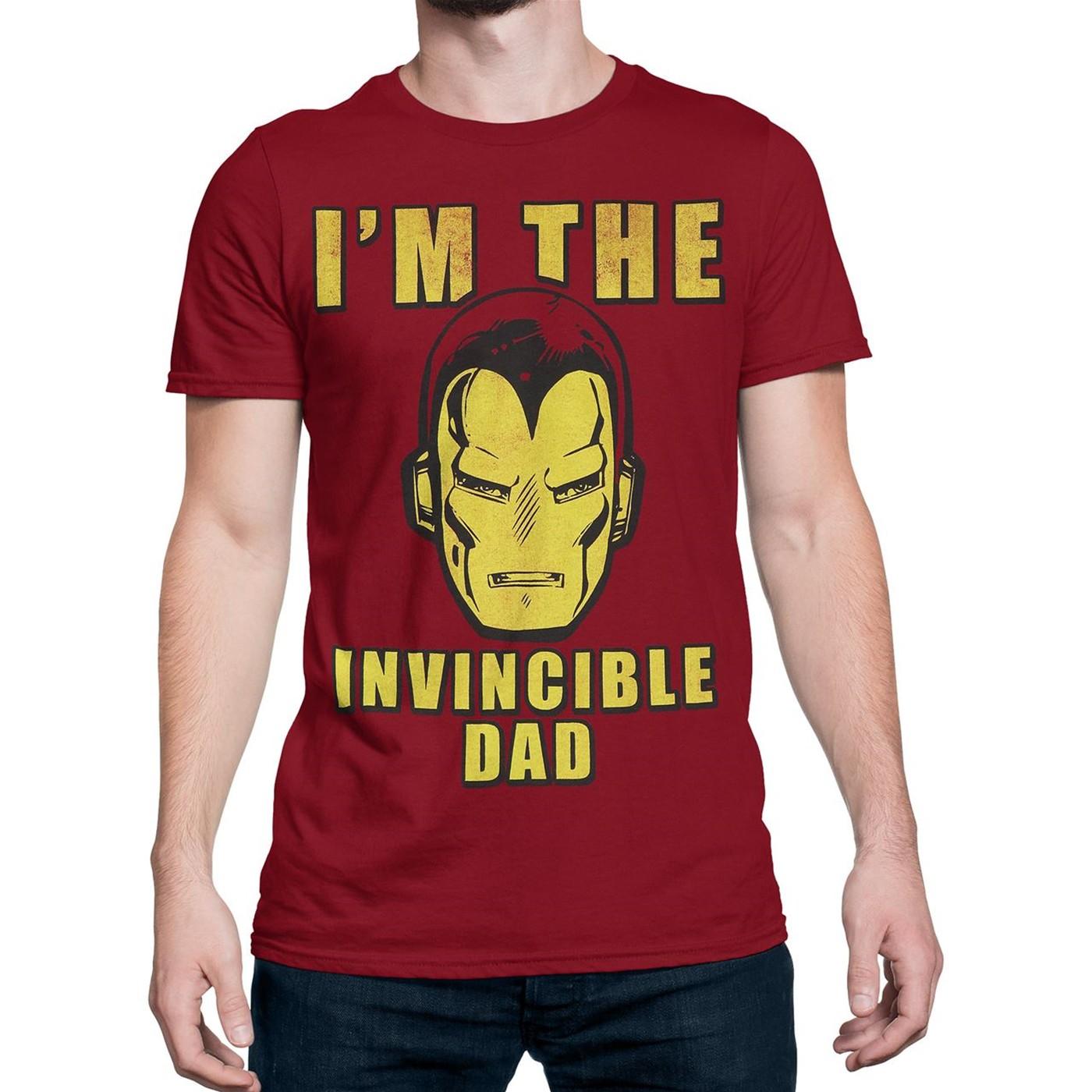 Iron Man I'm The Invincible Dad Men's T-Shirt