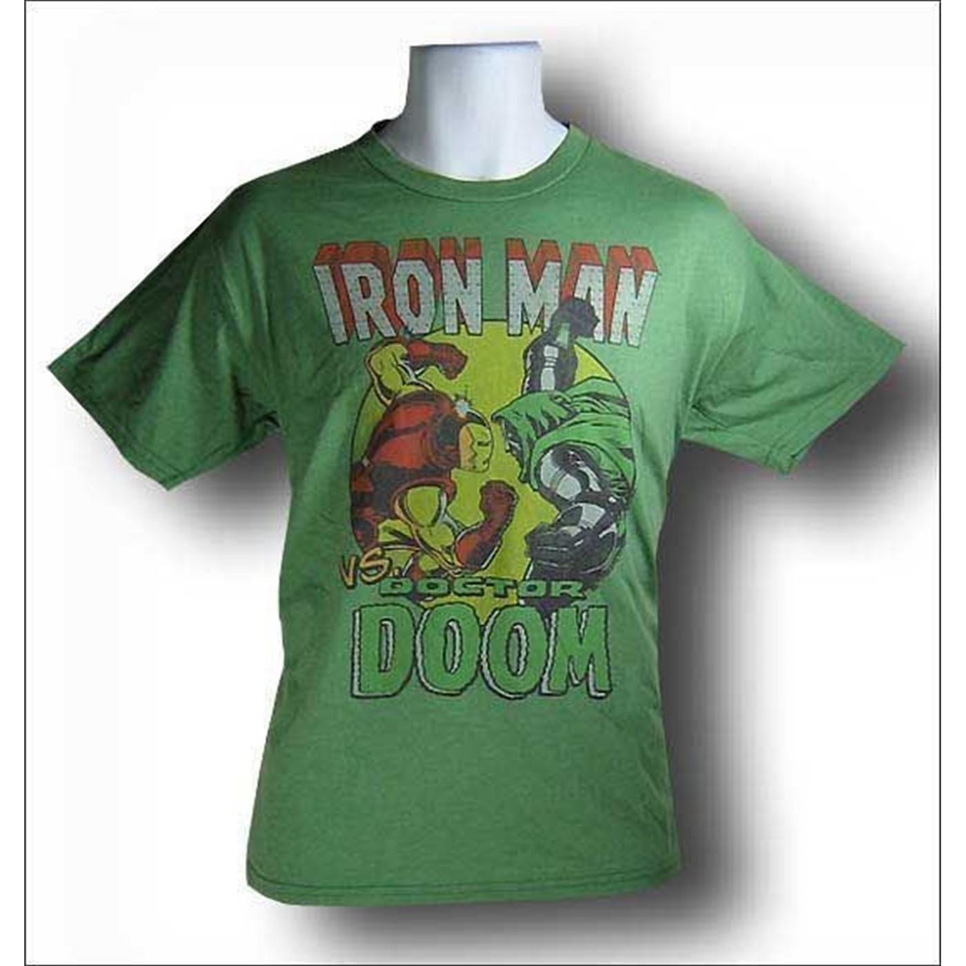 Ironman Vs. Dr. Doom Junk Food T-Shirt