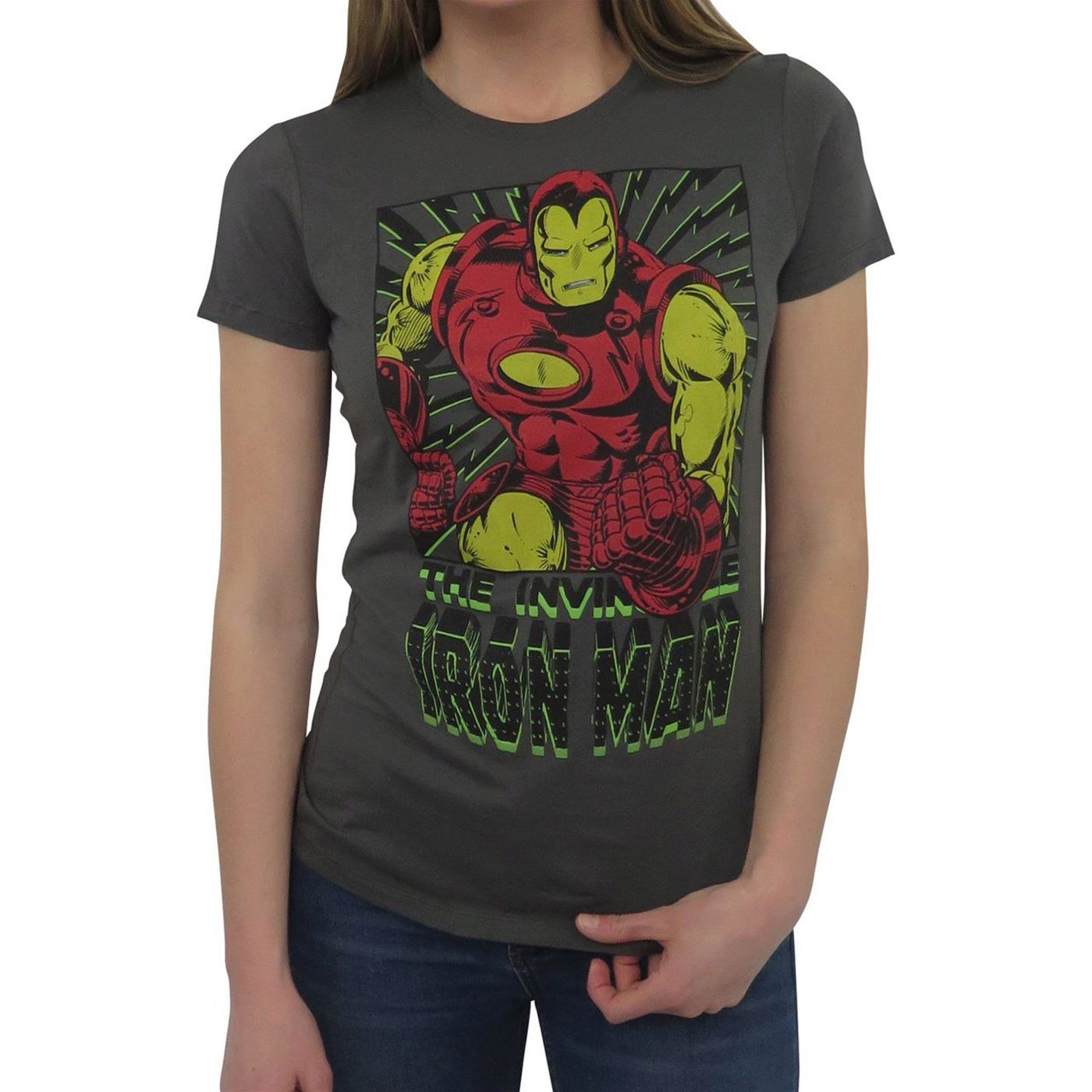 Iron Man Vintage Black Bolts Women's T-Shirt