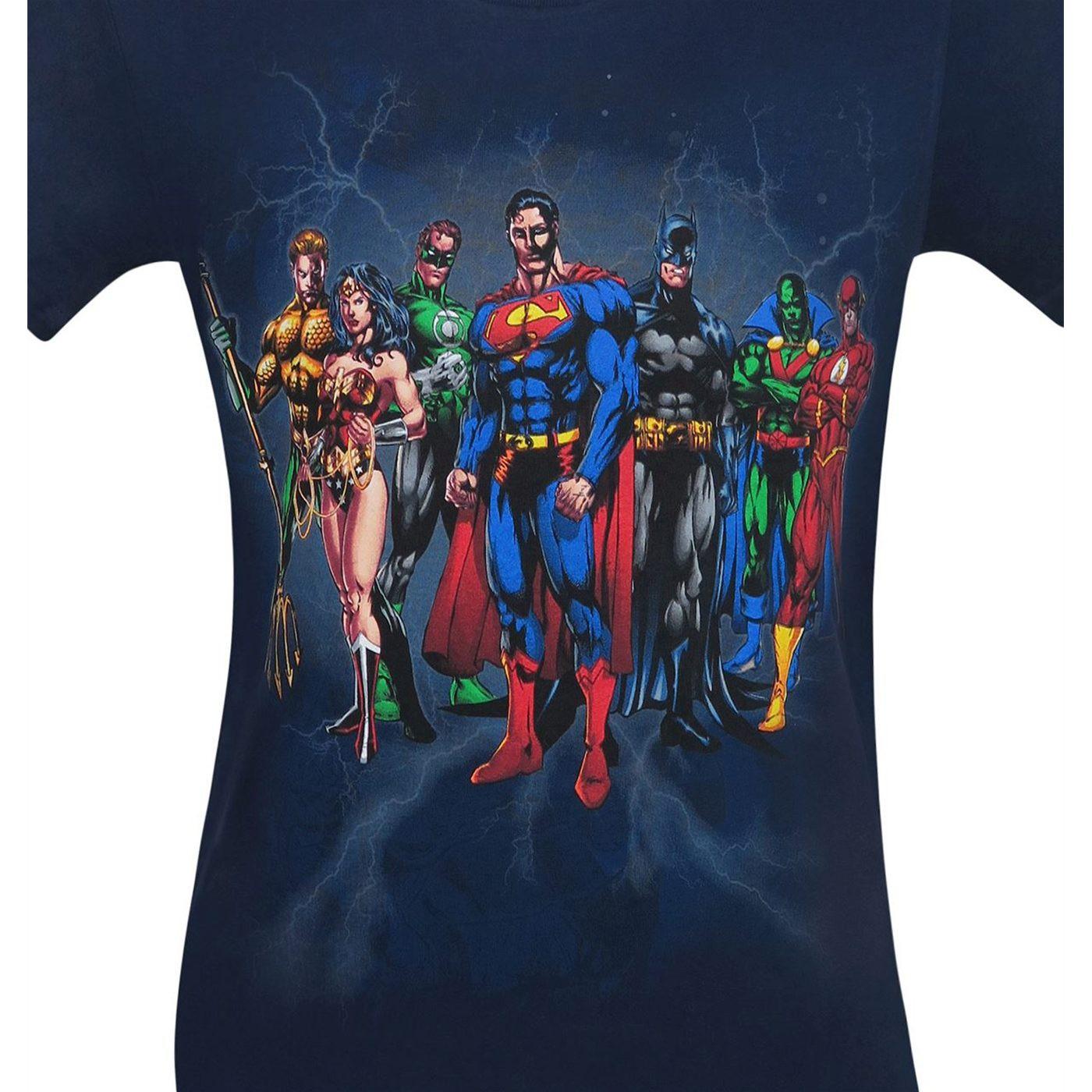 Justice League Line Up Men's T-Shirt