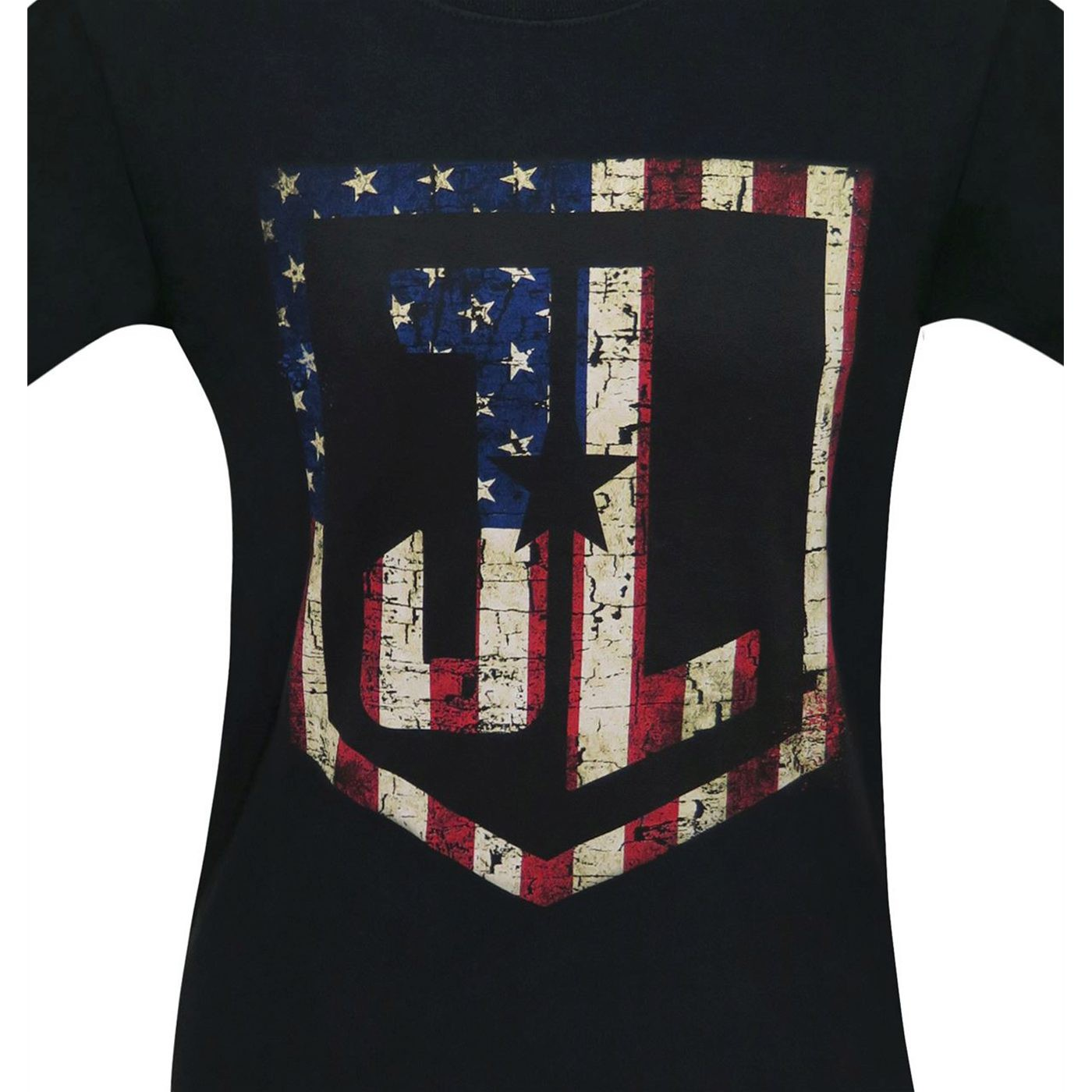 Justice League Movie American Flag Logo Men's T-Shirt