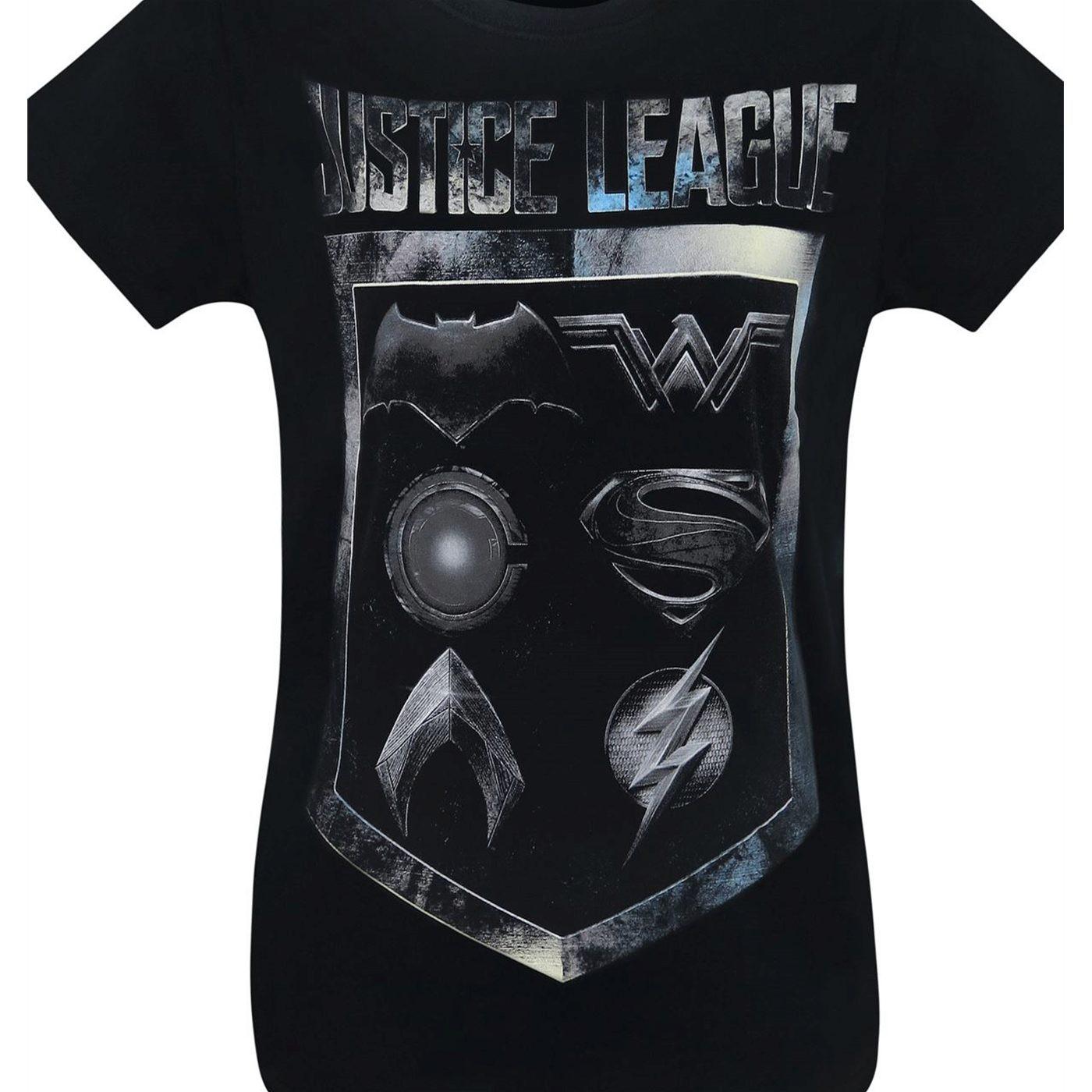 Justice League Movie Symbol Badge Women's T-Shirt