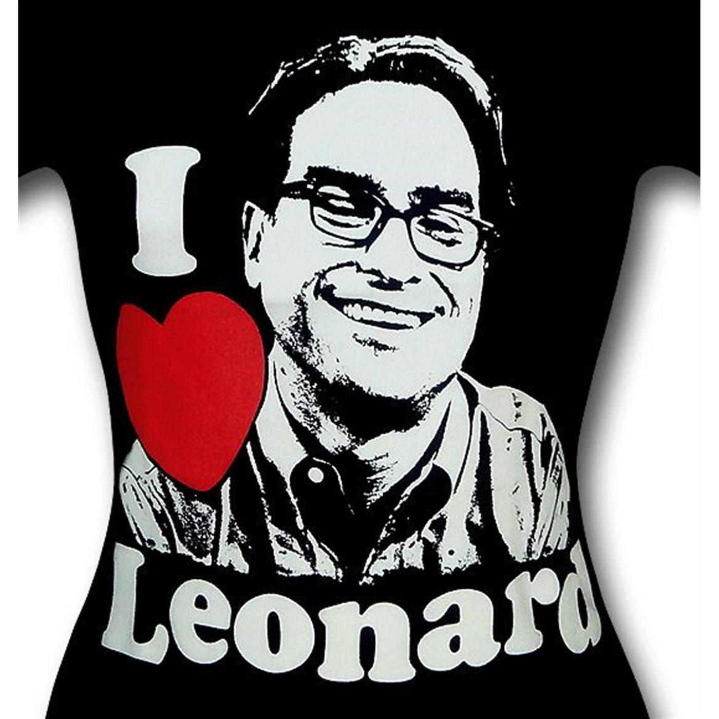 Big Bang Theory Love Leonard Women's T-Shirt