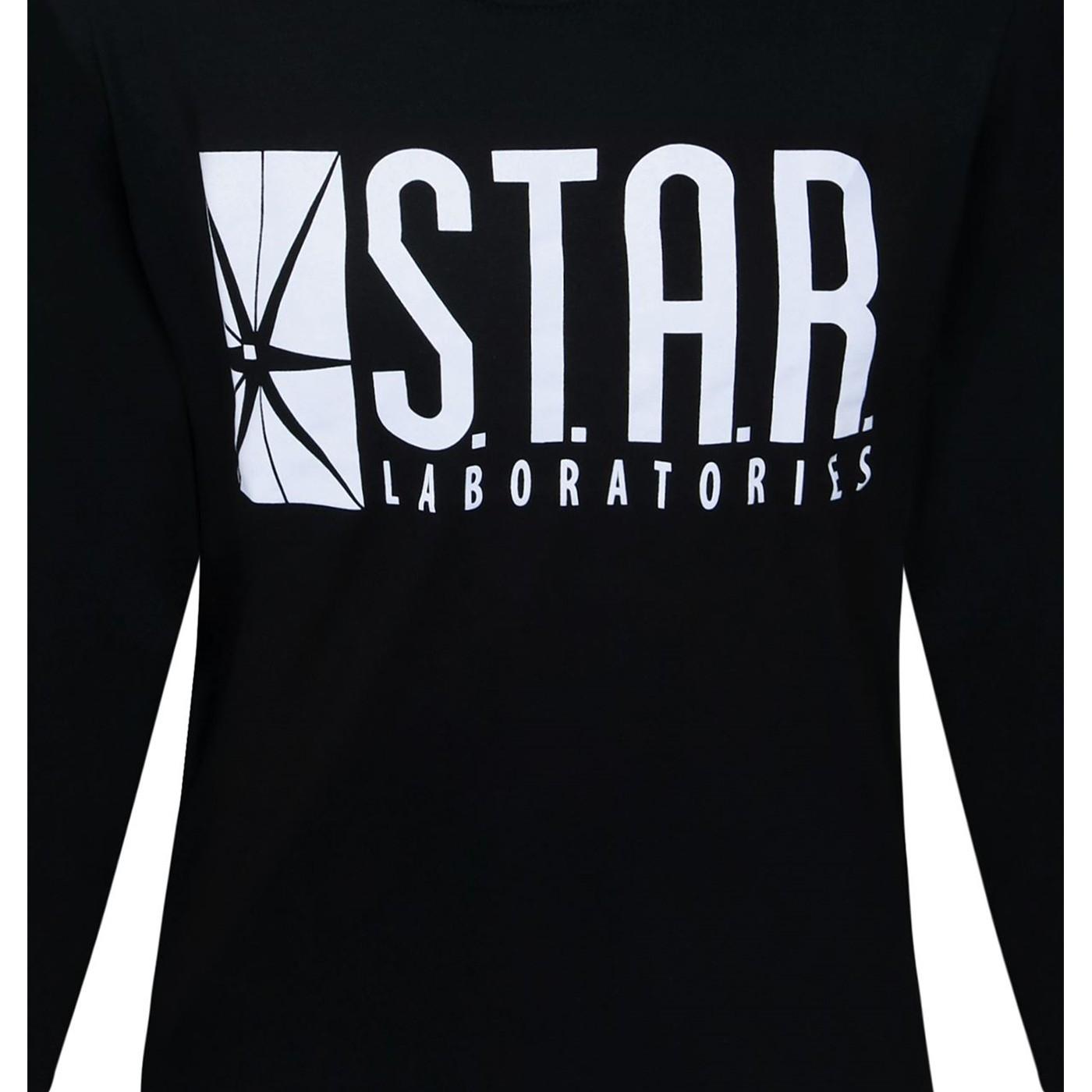 Flash Star Labs Black Long Sleeve T-Shirt