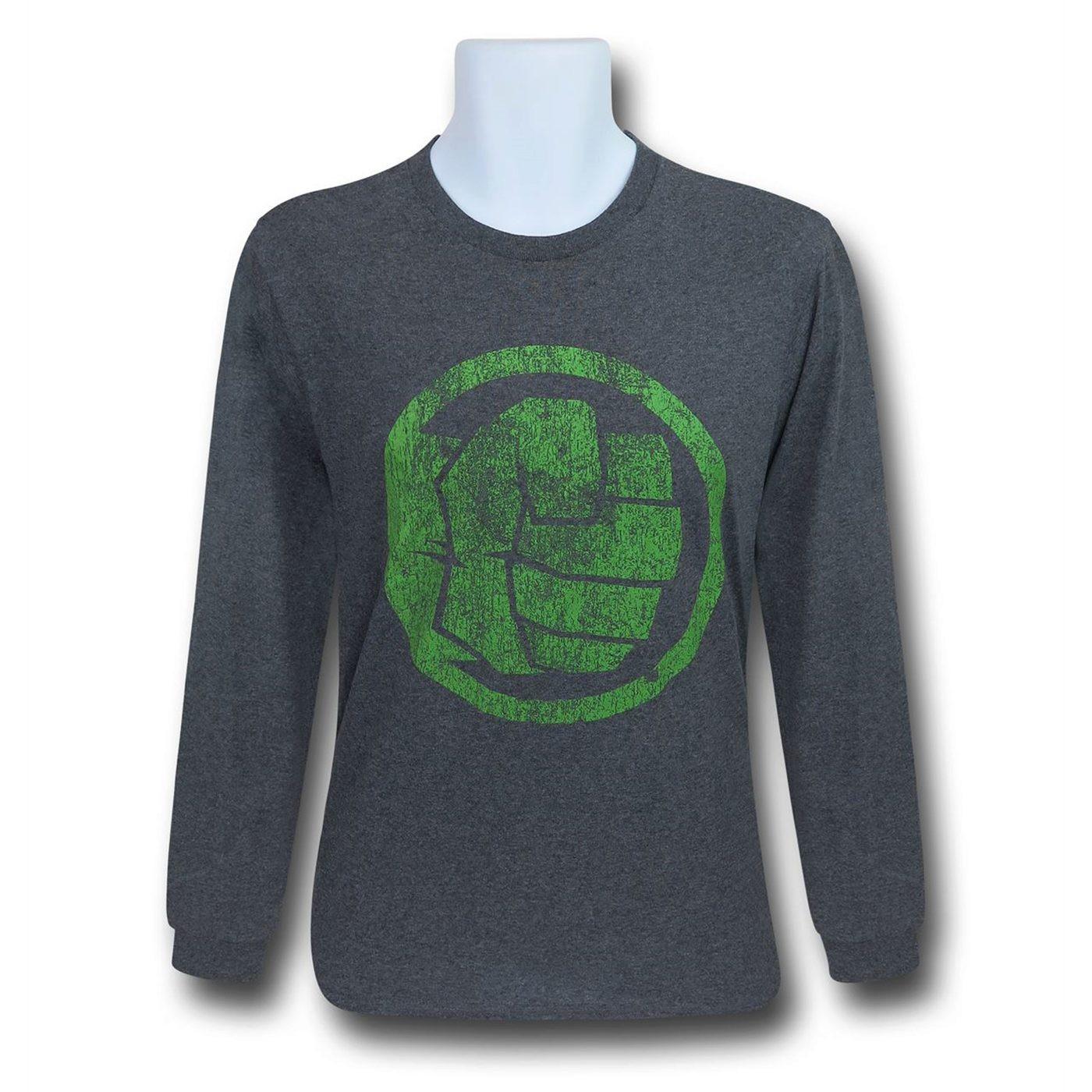 Hulk Fist Bump Men's Long Sleeve T-Shirt