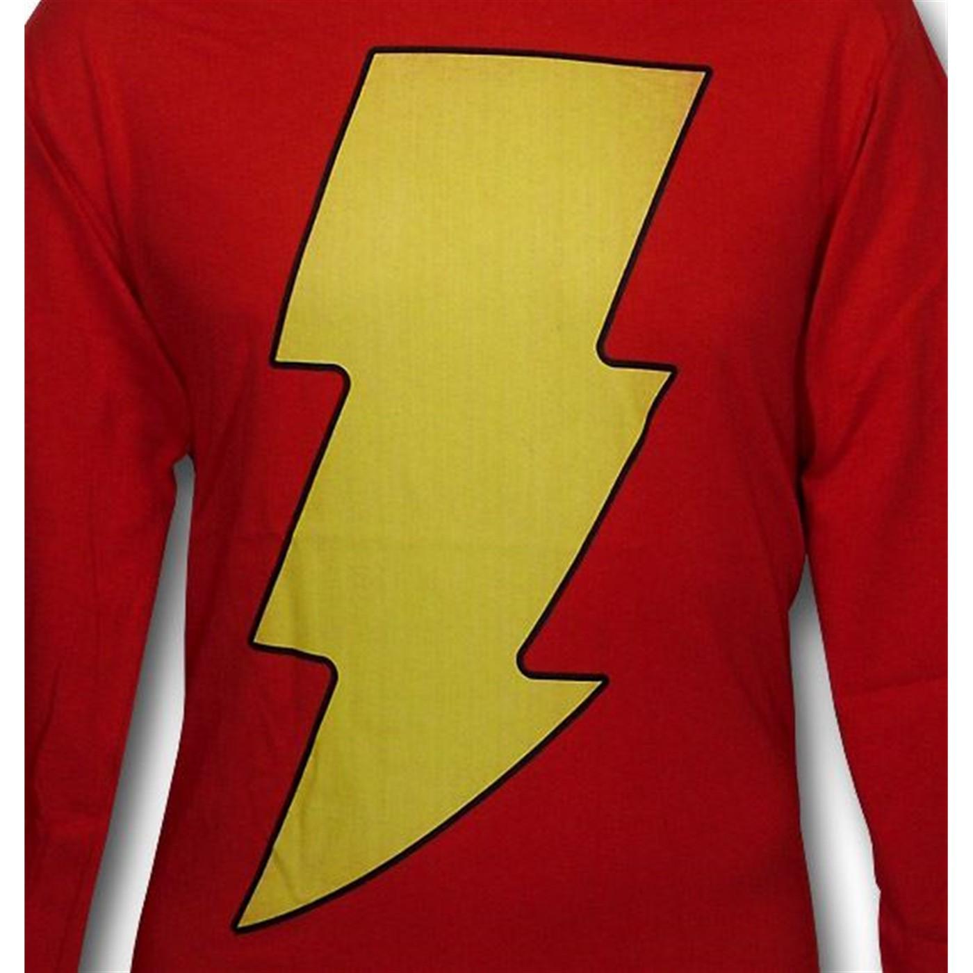 Shazam Symbol Long Sleeve T-Shirt