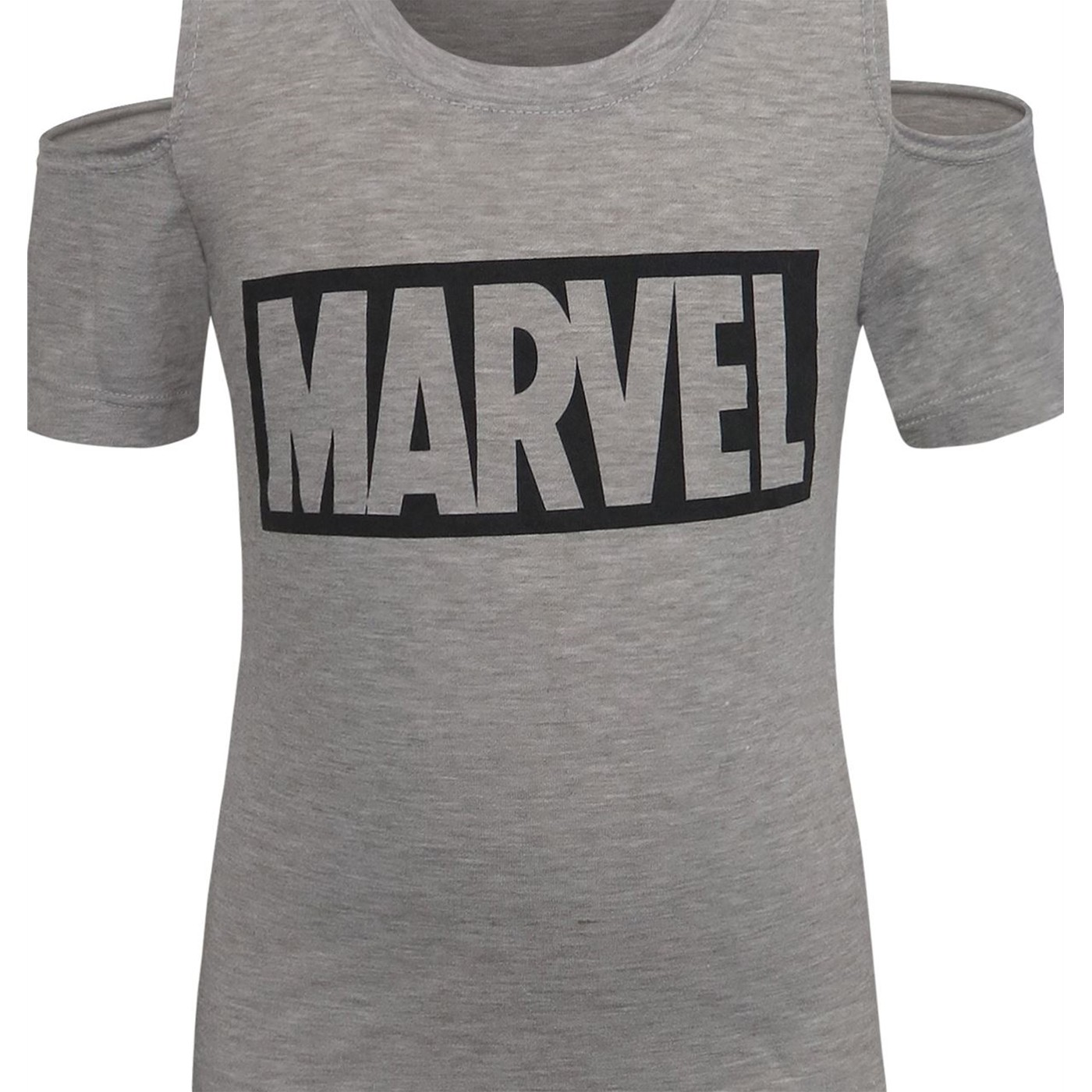 Marvel Logo Cold Shoulder Girls' T-Shirt