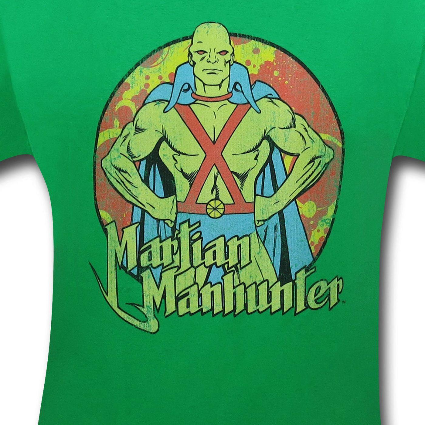 Martian Manhunter Circle Image T-Shirt