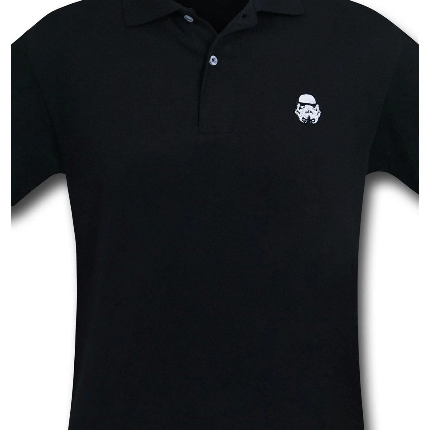 Star Wars Stormtrooper Black Polo Shirt