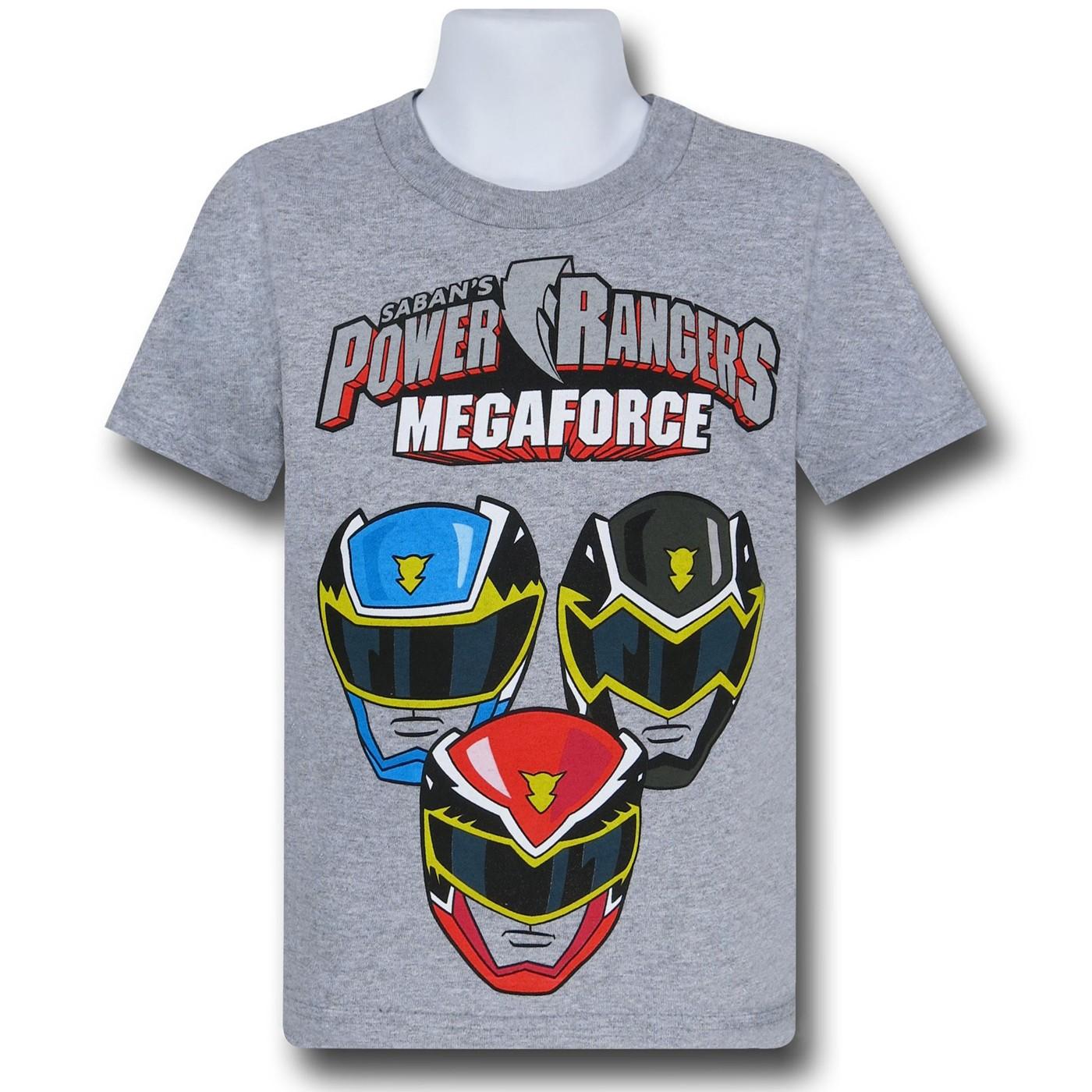 Power Rangers MegaForce Helmet Kids T-Shirt