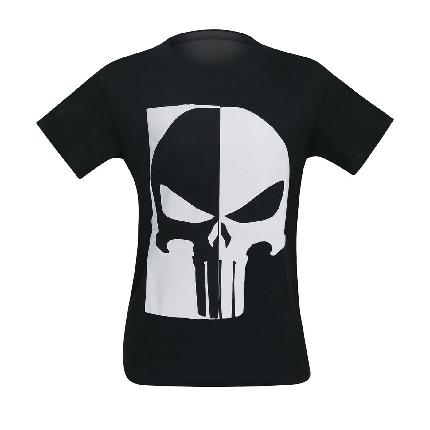 Punisher Black & White Skull Men's T-Shirt