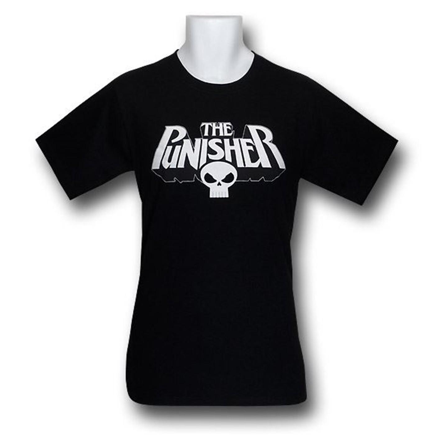 Punisher Logo and Skull T-Shirt