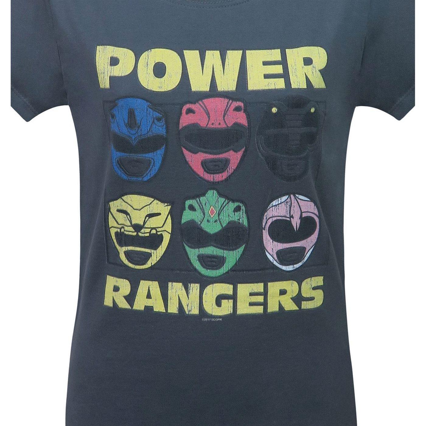 Power Rangers Morphin Time Helmets Women's T-Shirt