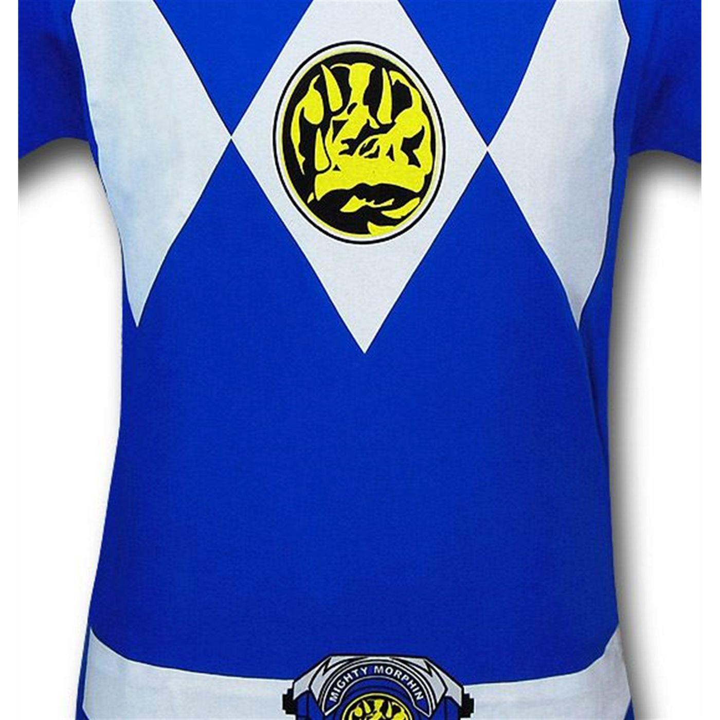 Power Rangers Blue Ranger Costume T-Shirt