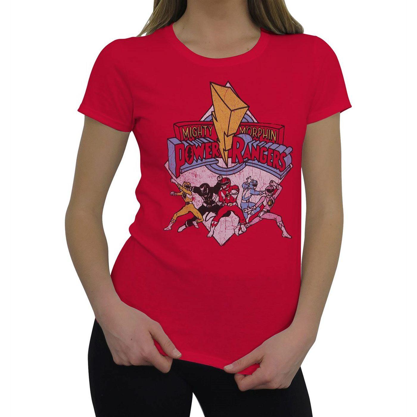 Power Rangers Retro Rangers Women's T-Shirt