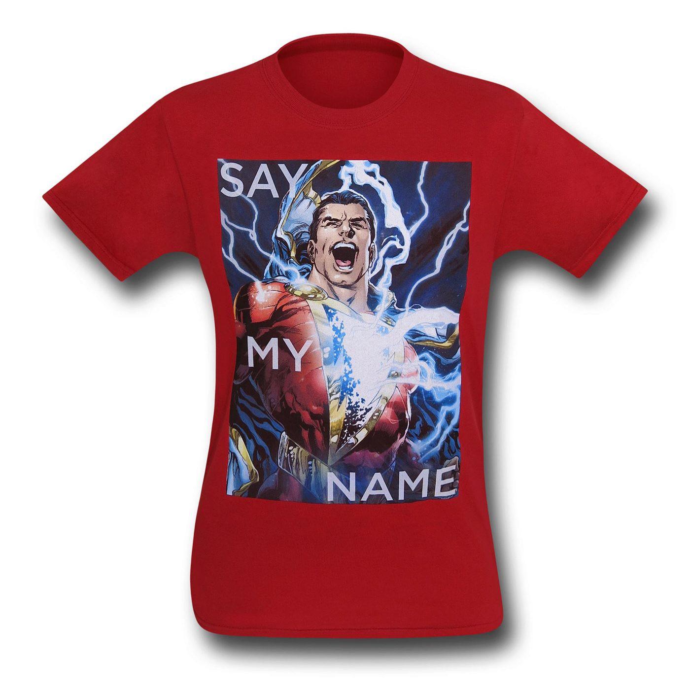 Shazam Say My Name T-Shirt